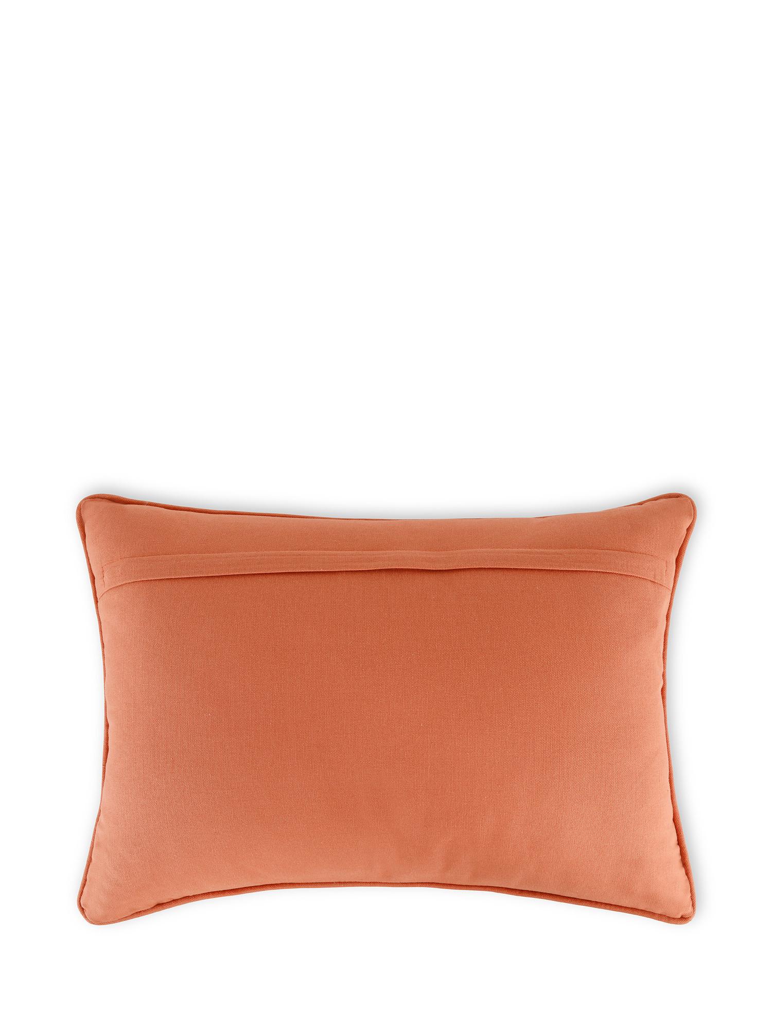 Cuscino cotone ricamo floreale 35x50cm, Multicolor, large image number 1