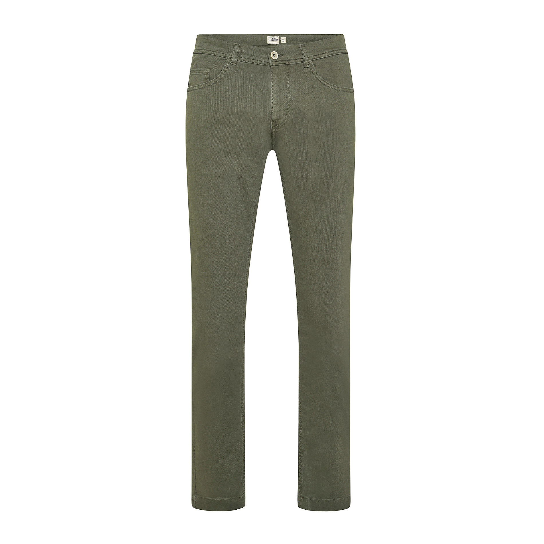 Pantalone cotone stretch 5 tasche JCT, Verde scuro, large image number 0