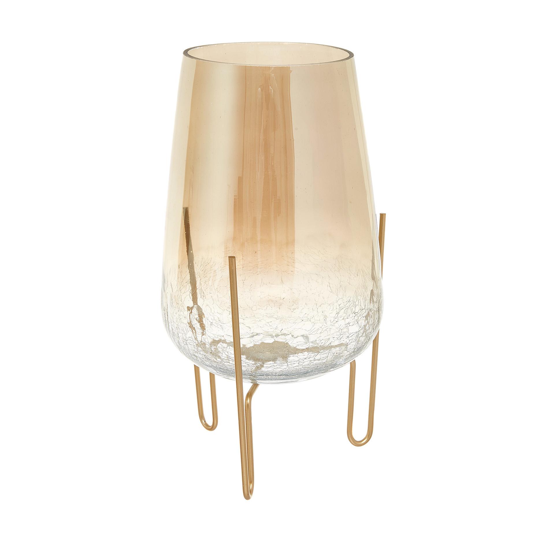 Candeliere vetro effetto bubble con piedistallo, Beige chiaro, large image number 0