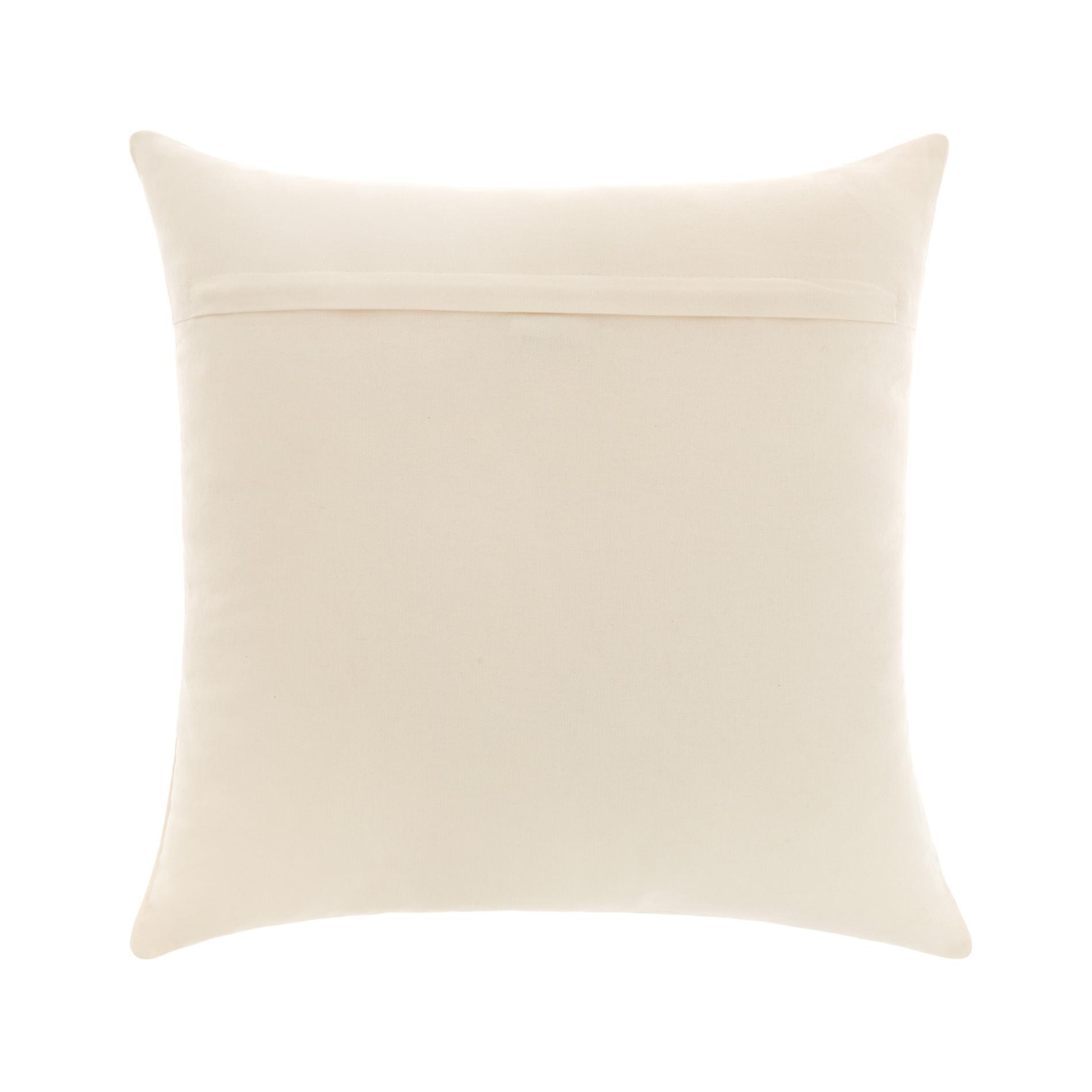 Cuscino ricamo floreale 45x45cm, Bianco, large image number 1