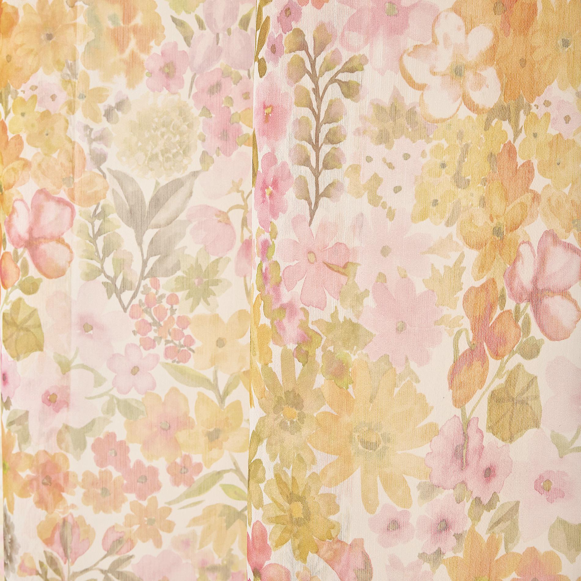 Tenda stampa floreale passanti nascosti, Multicolor, large image number 3