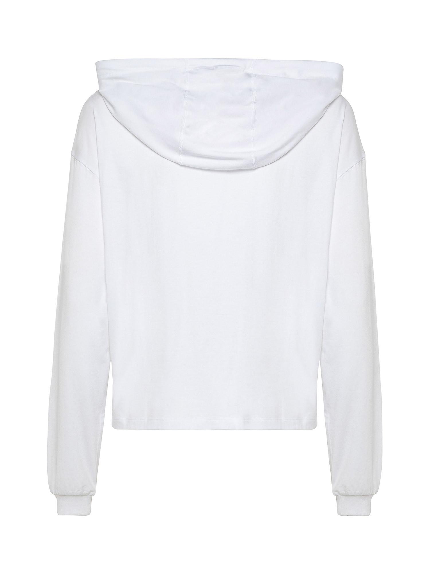 Pullover con giromanica abbassato, Bianco, large image number 1