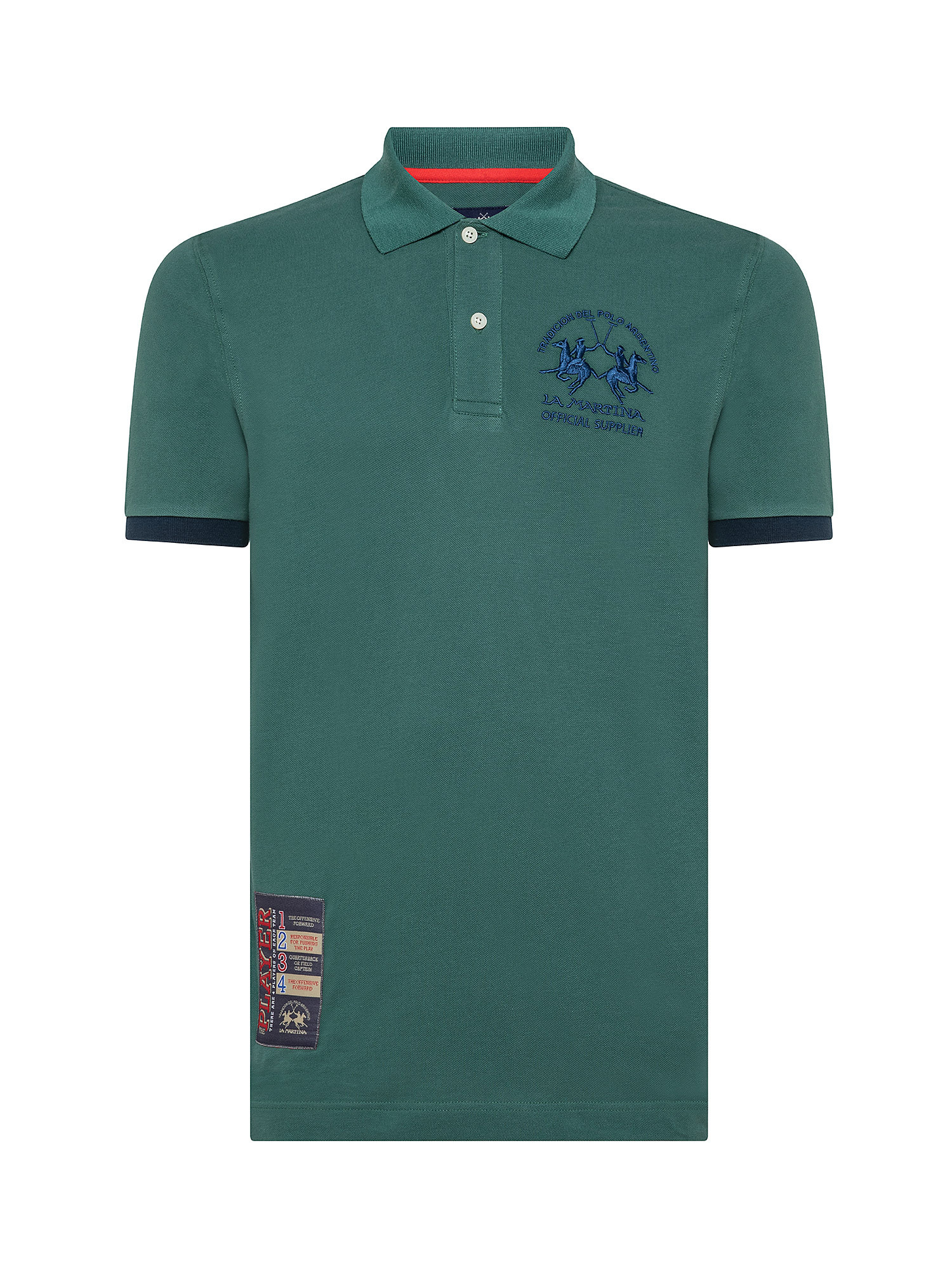 Polo da uomo a maniche corte regular fit, Verde, large image number 0