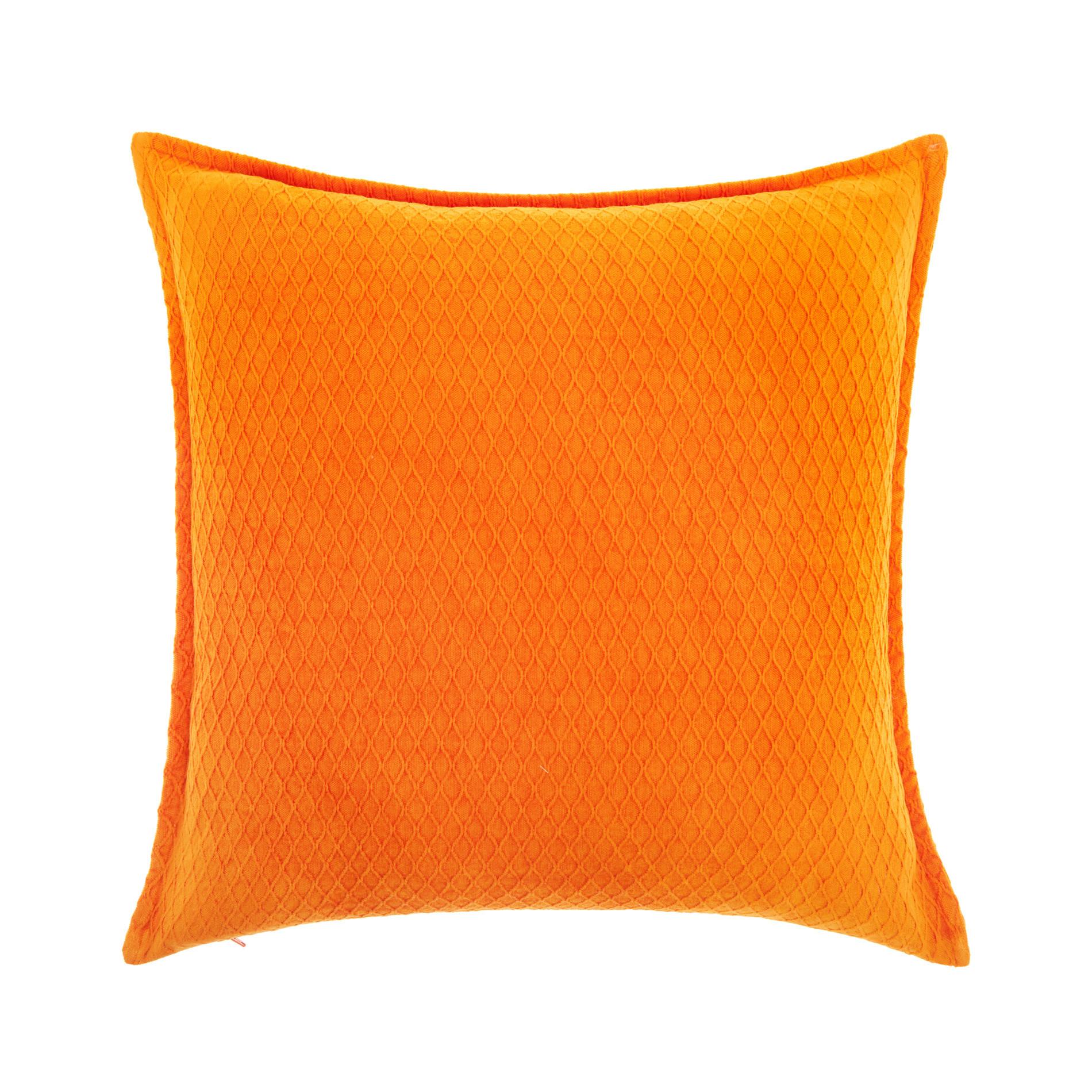 Cuscino velluto tinta unita 45x45cm, Arancione, large image number 0