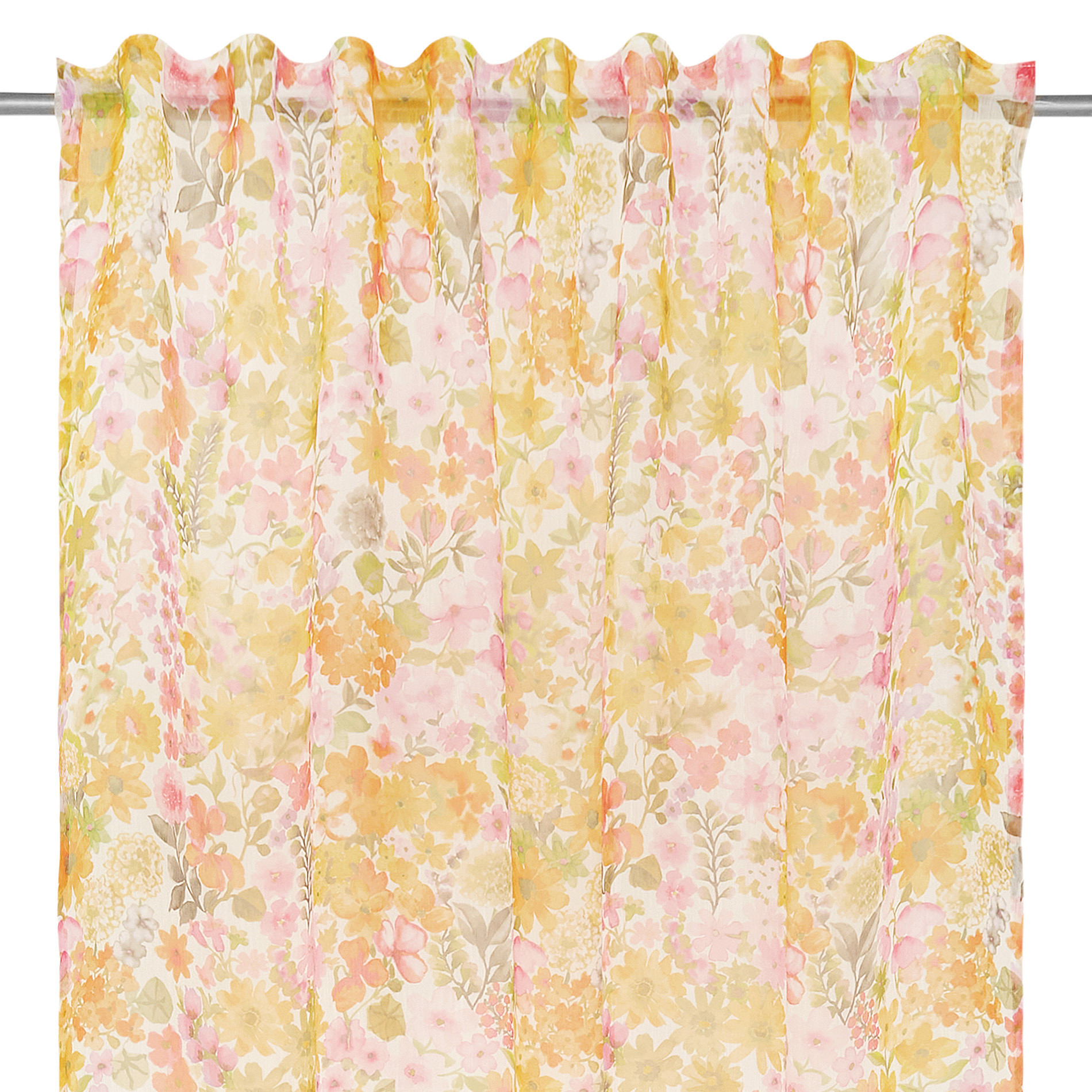 Tenda stampa floreale passanti nascosti, Multicolor, large image number 2