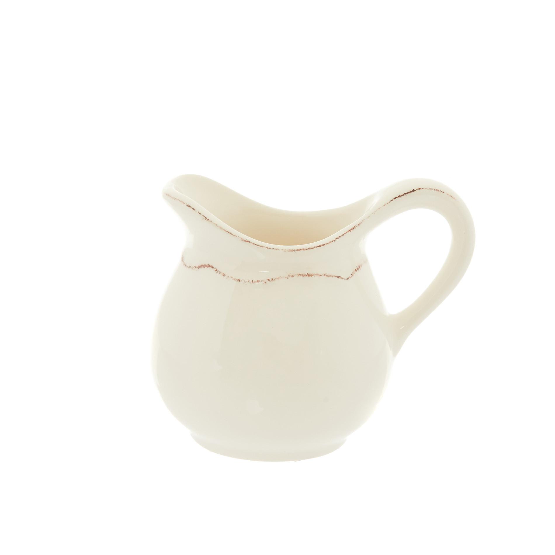 Lattiera ceramica Dona Maria, Bianco panna, large image number 0