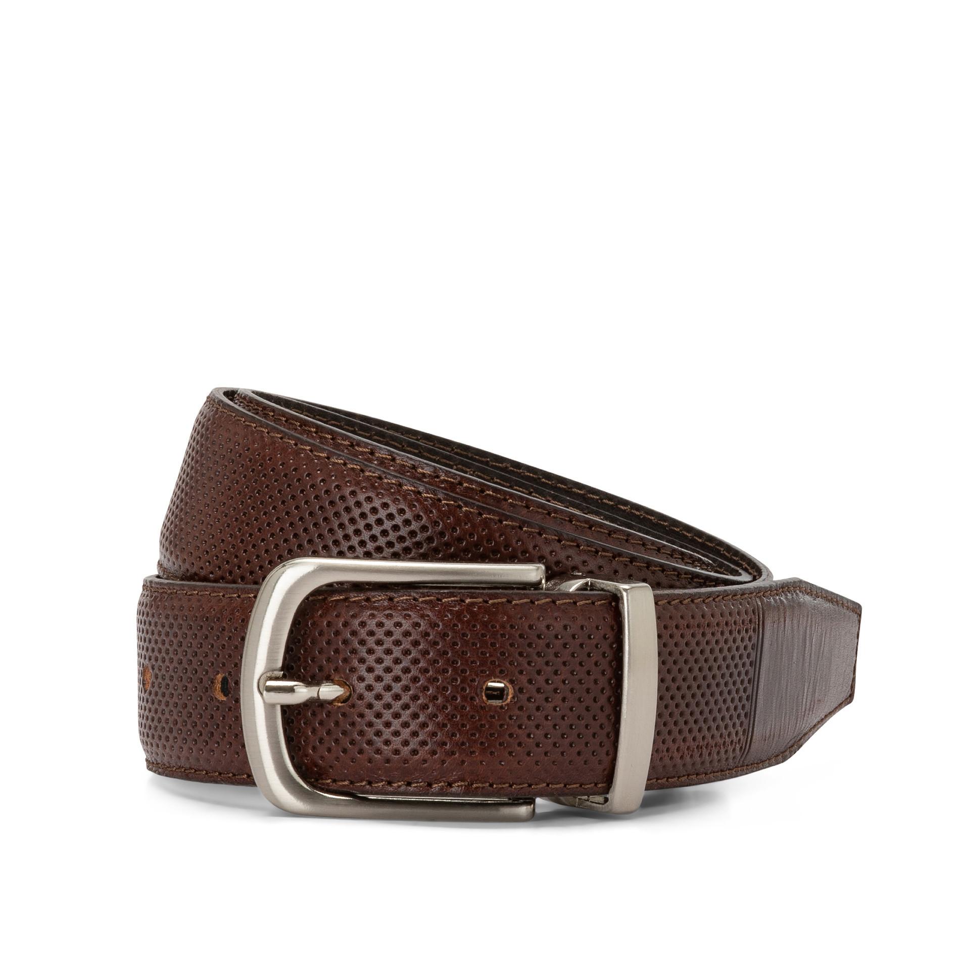 Cintura in vera pelle, Marrone scuro, large image number 1