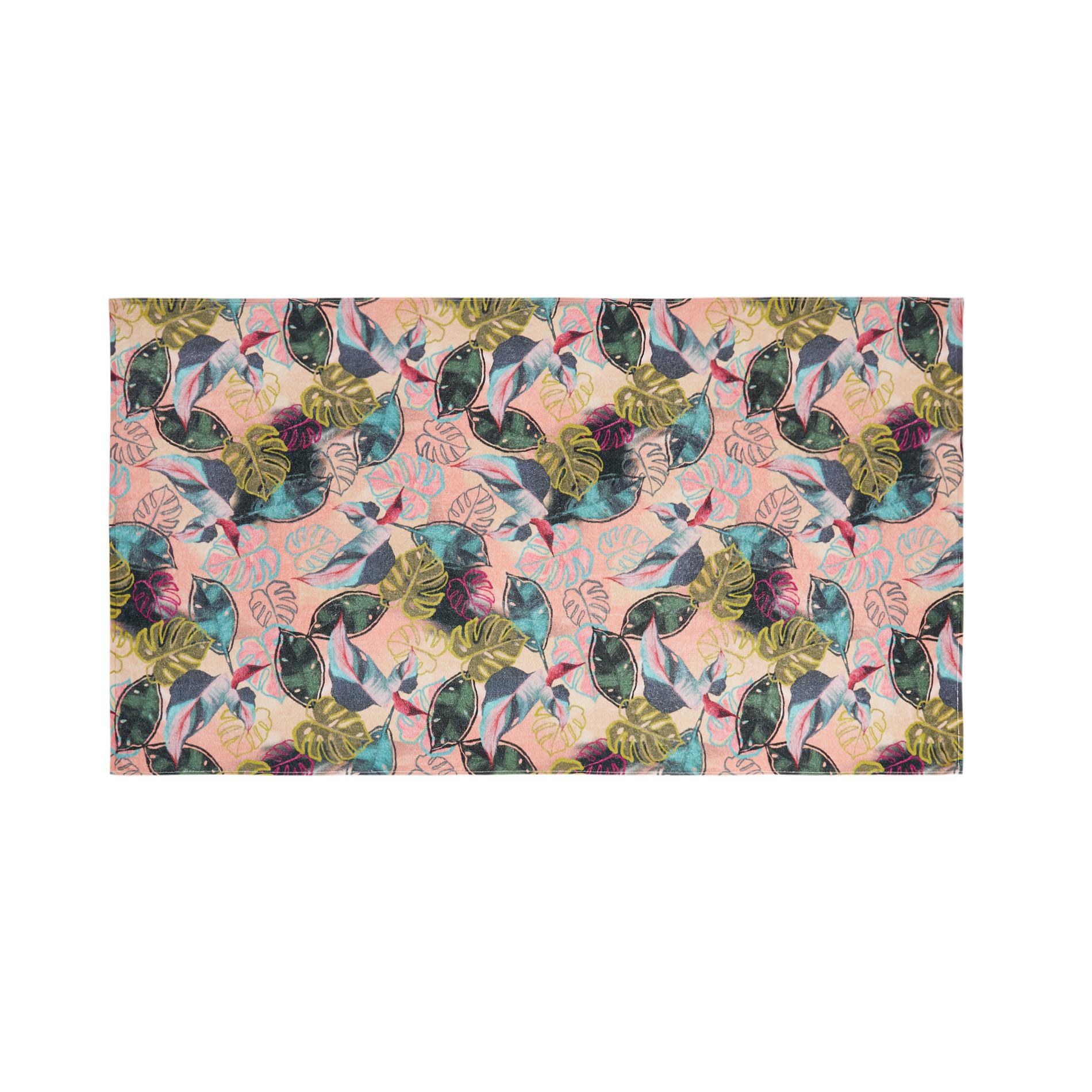 Telo mare cotone velour stampa digitale multicolore, Multicolor, large image number 0