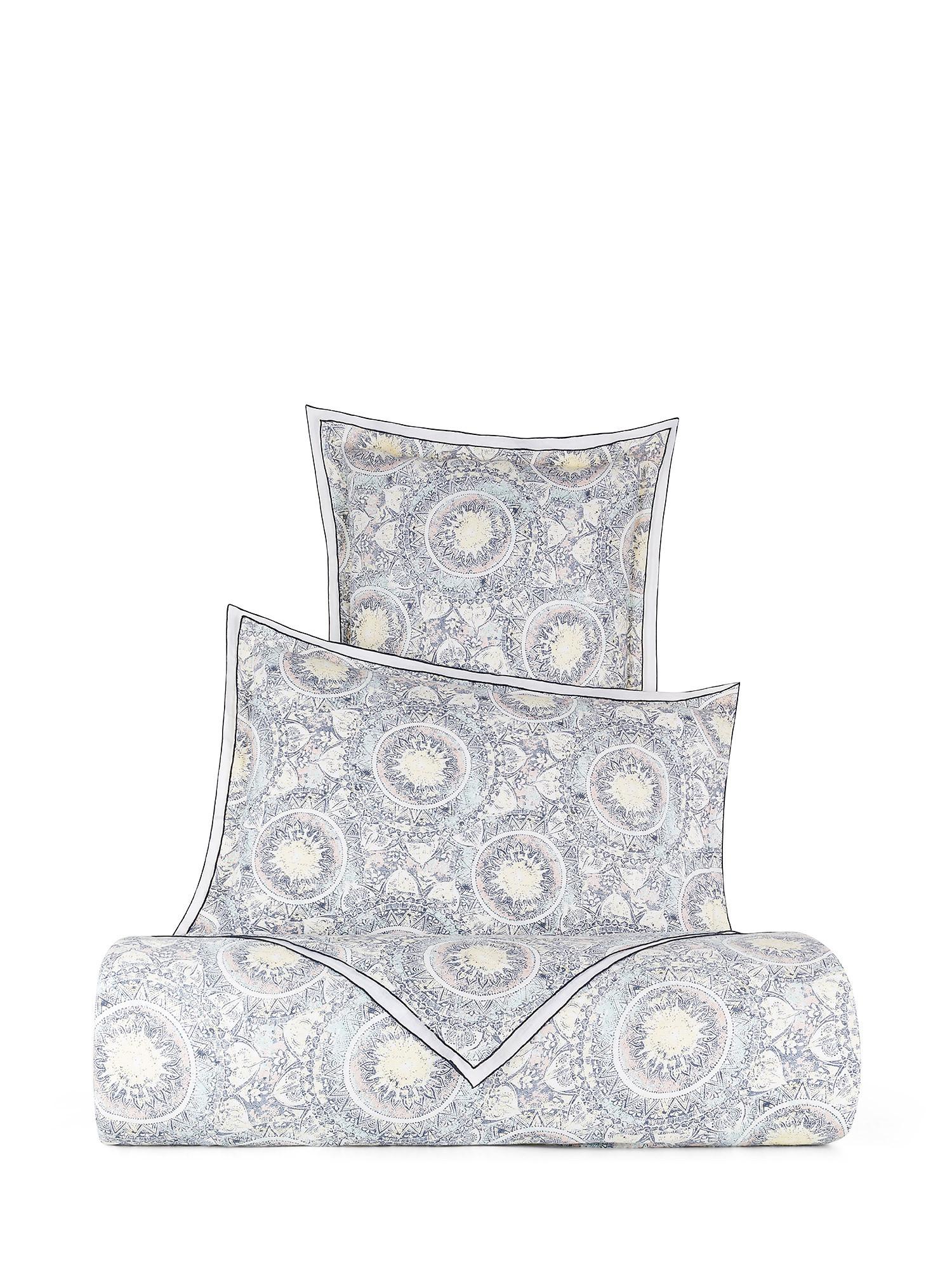Copripiumino puro lino lavato fantasia tarocchi, Bianco, large image number 0