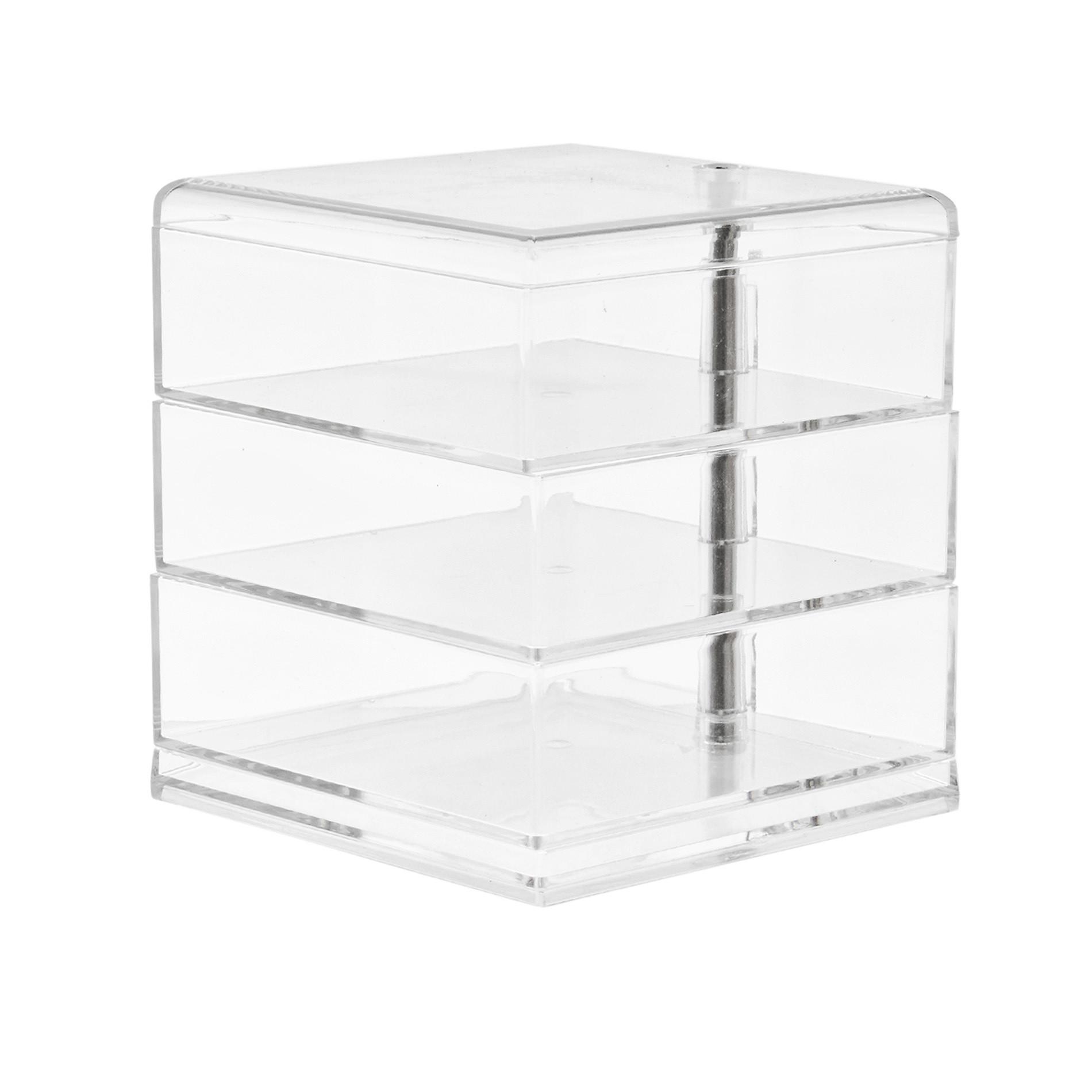 Storage 3 ripiani in plastica, Trasparente, large image number 0