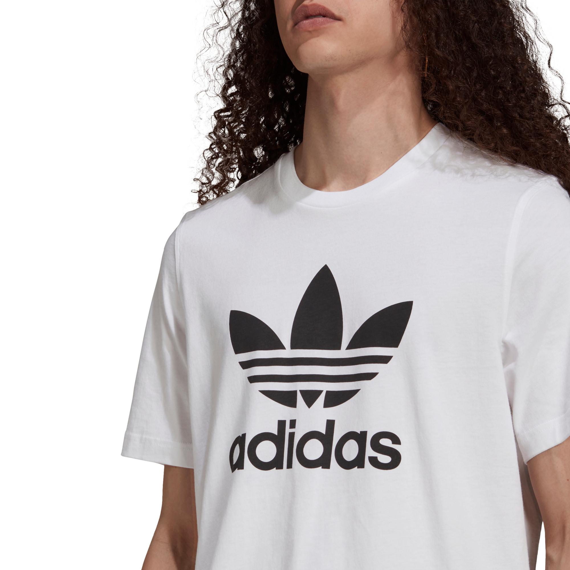 T-shirt uomo adicolor Classics Trefoil, Bianco/Nero, large image number 4