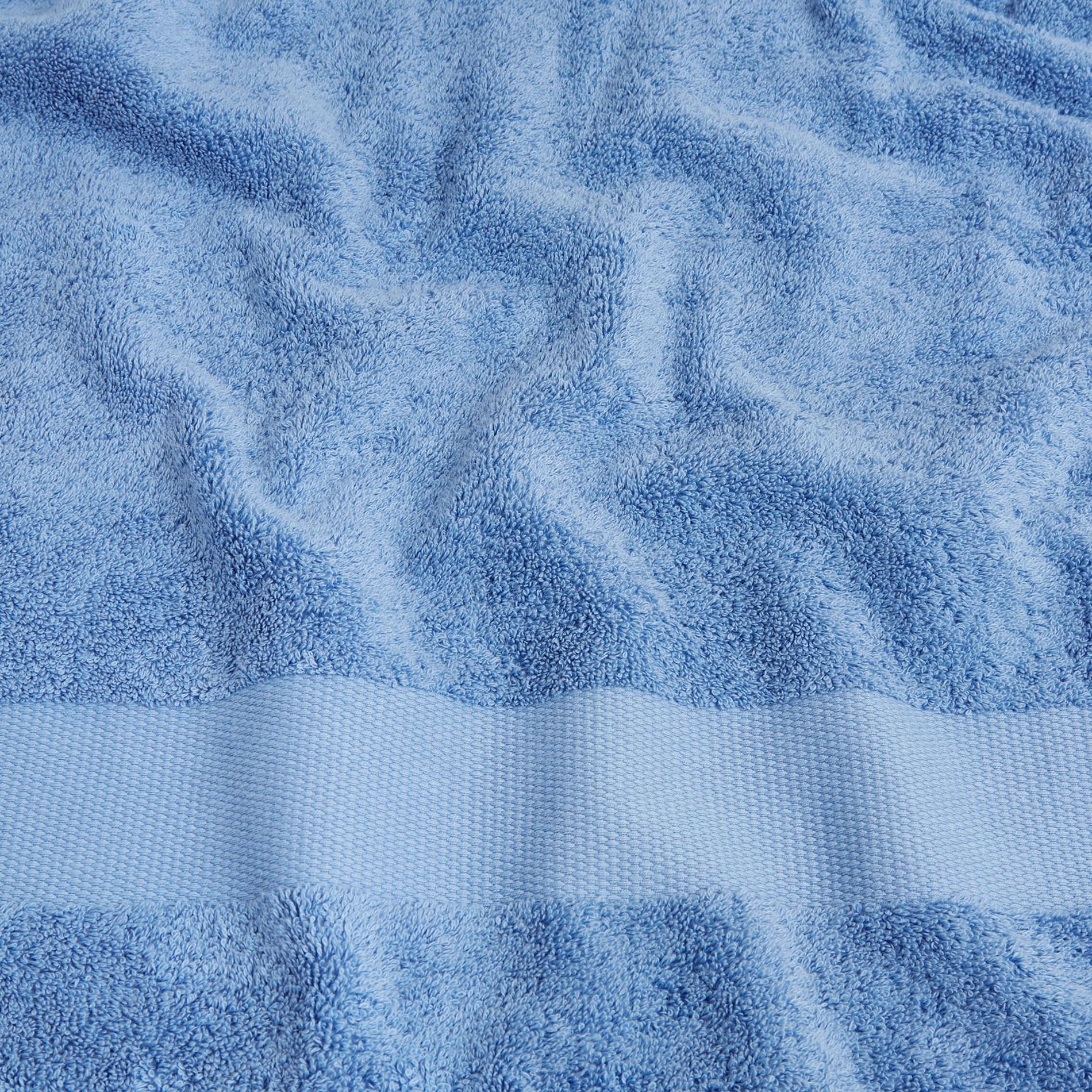 Asciugamano spugna di puro cotone Zefiro, Blu, large image number 3