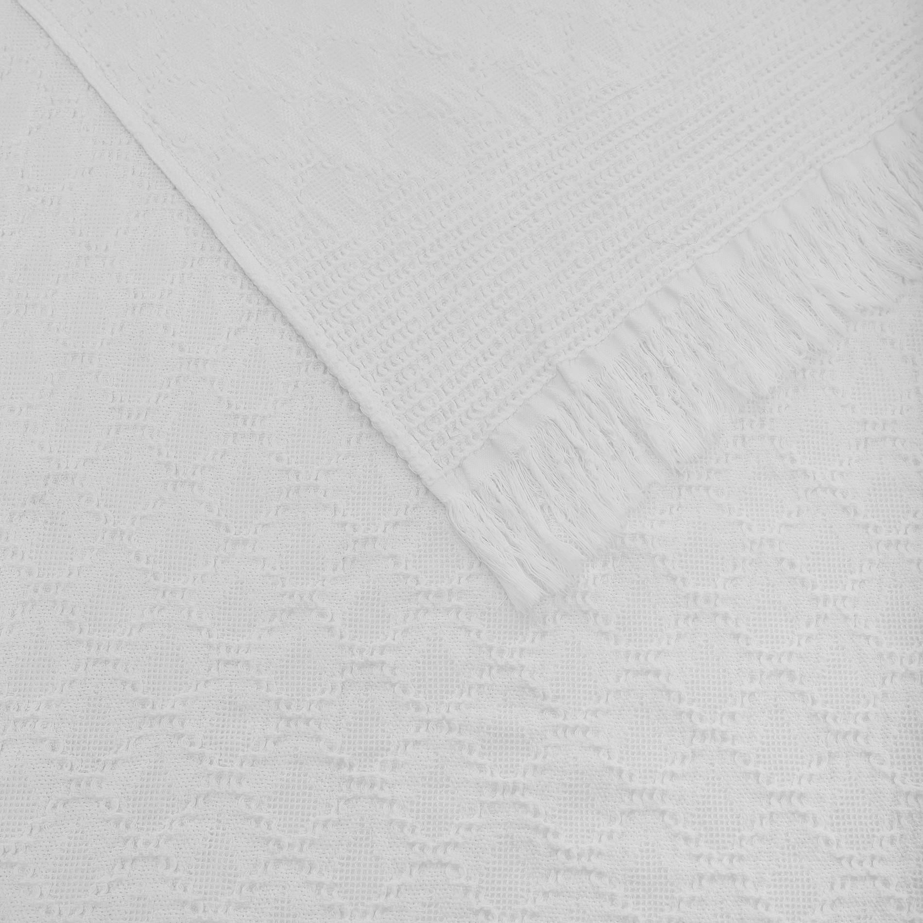 Plaid misto lino e cotone a rombi, Bianco, large image number 0