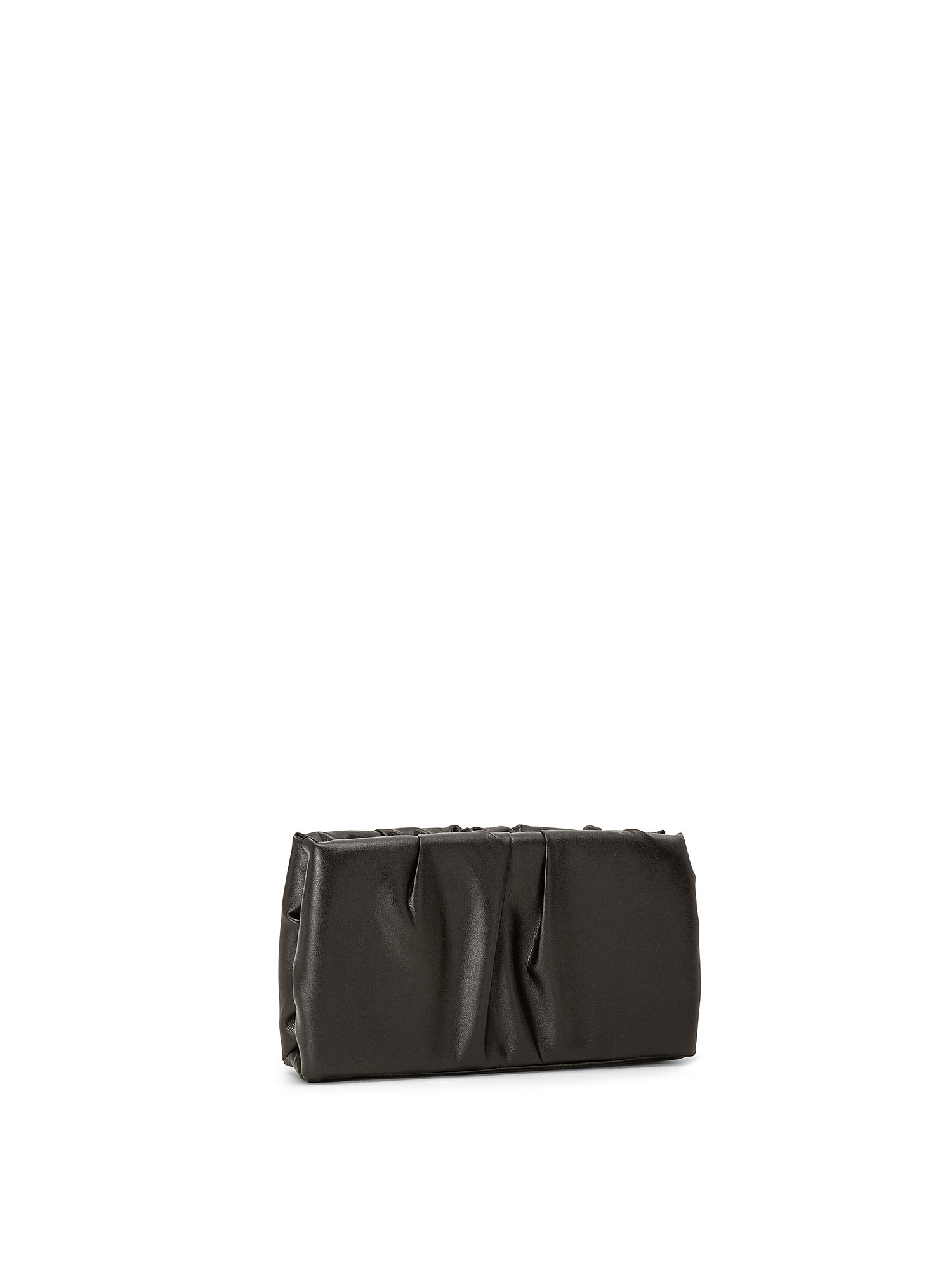 Ruched Frame Clutch, Nero, large image number 1