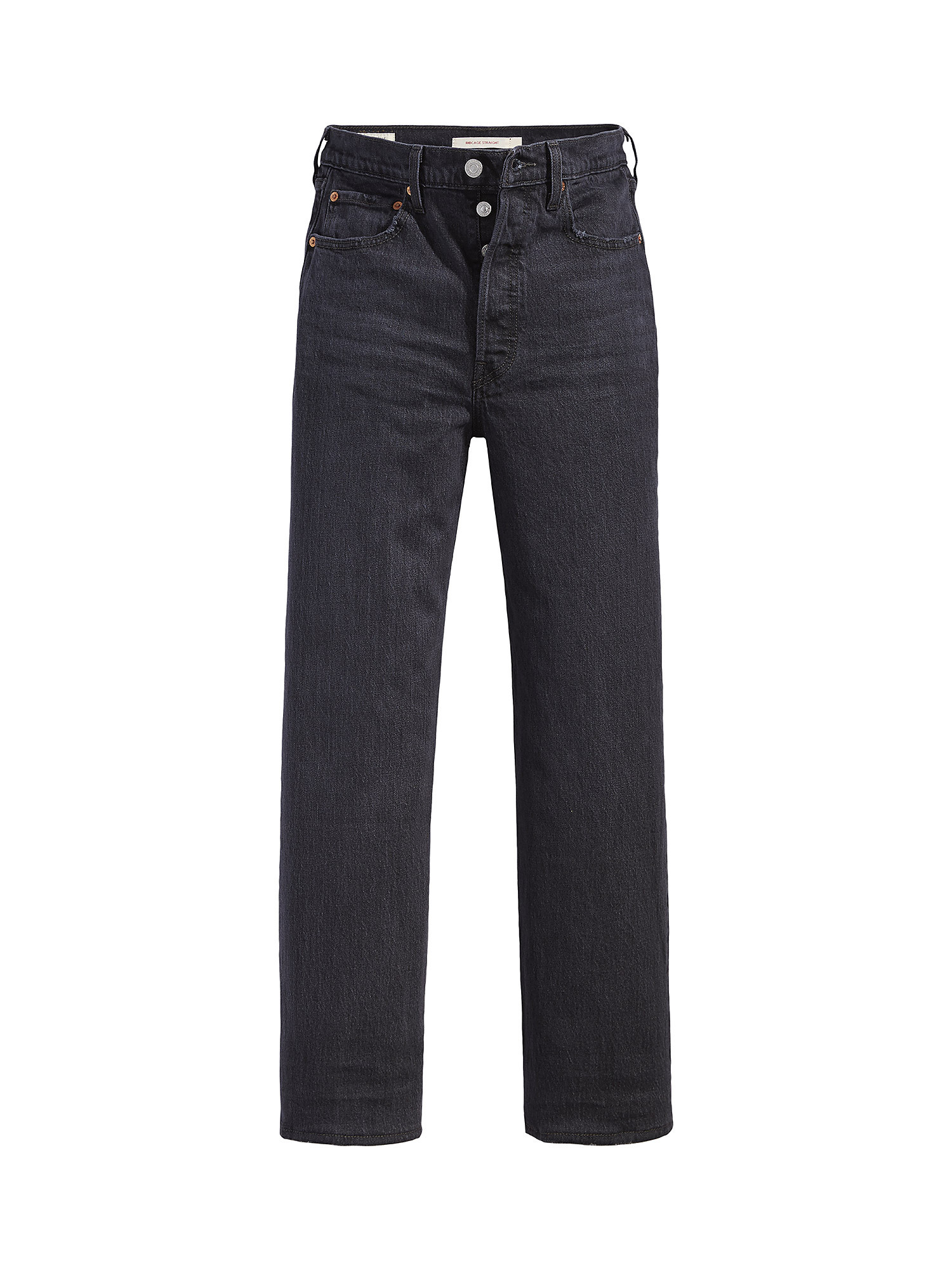 Jeans Ribcage Straight Ankle, Nero, large image number 0