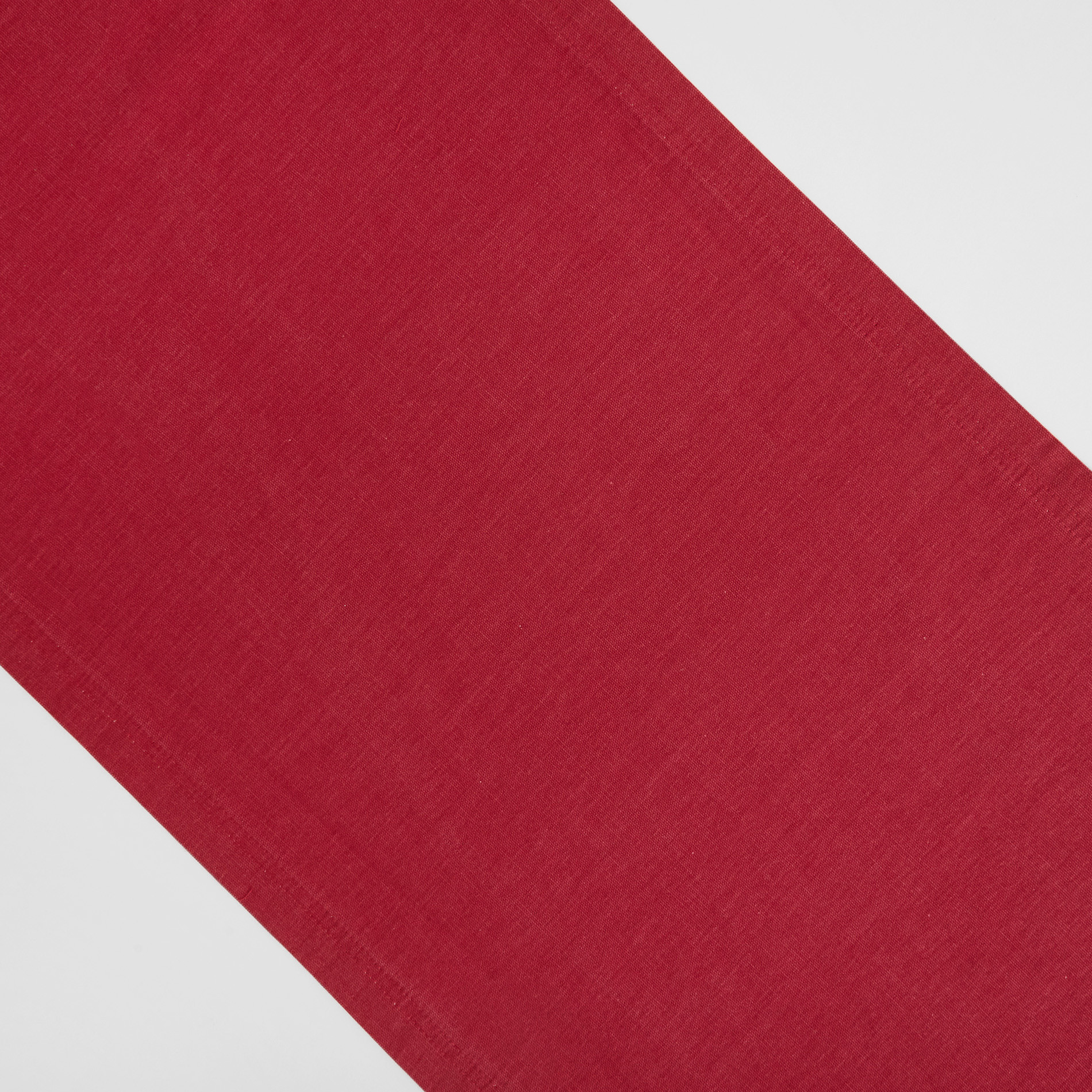 Runner puro cotone garment washed tinta unita, Rosso scuro, large image number 0