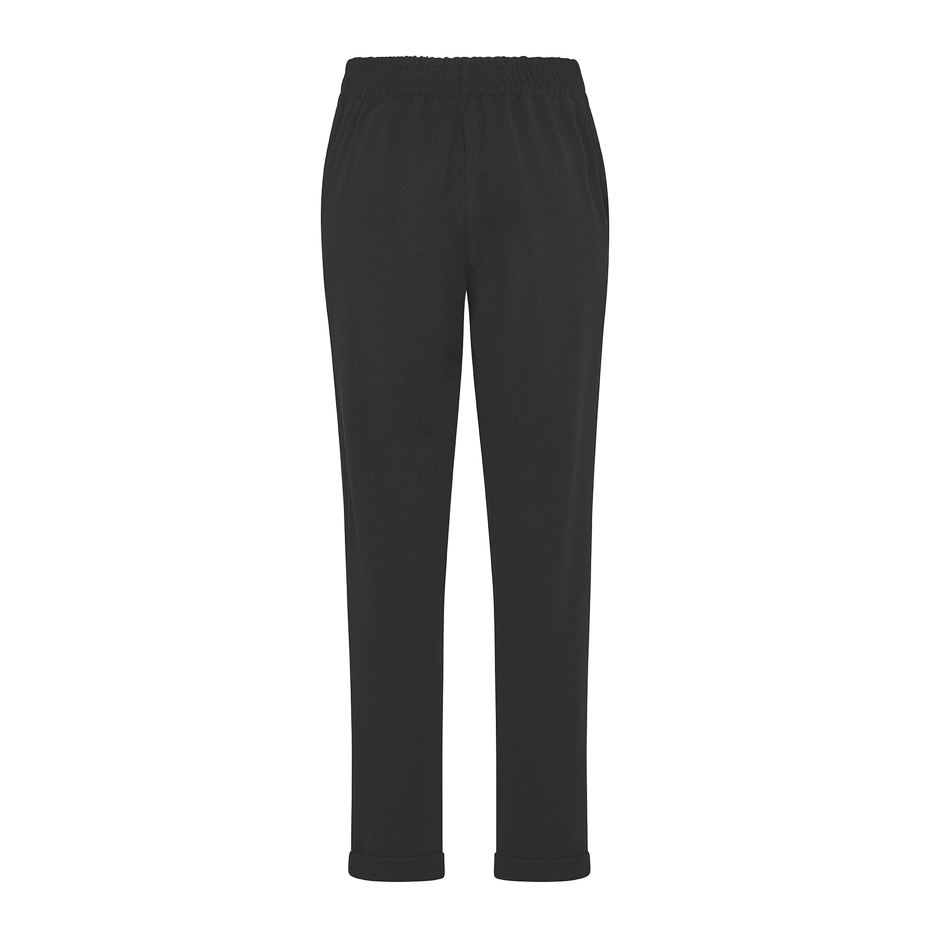 Pantalone tessuto crêpe Koan, Nero, large image number 1
