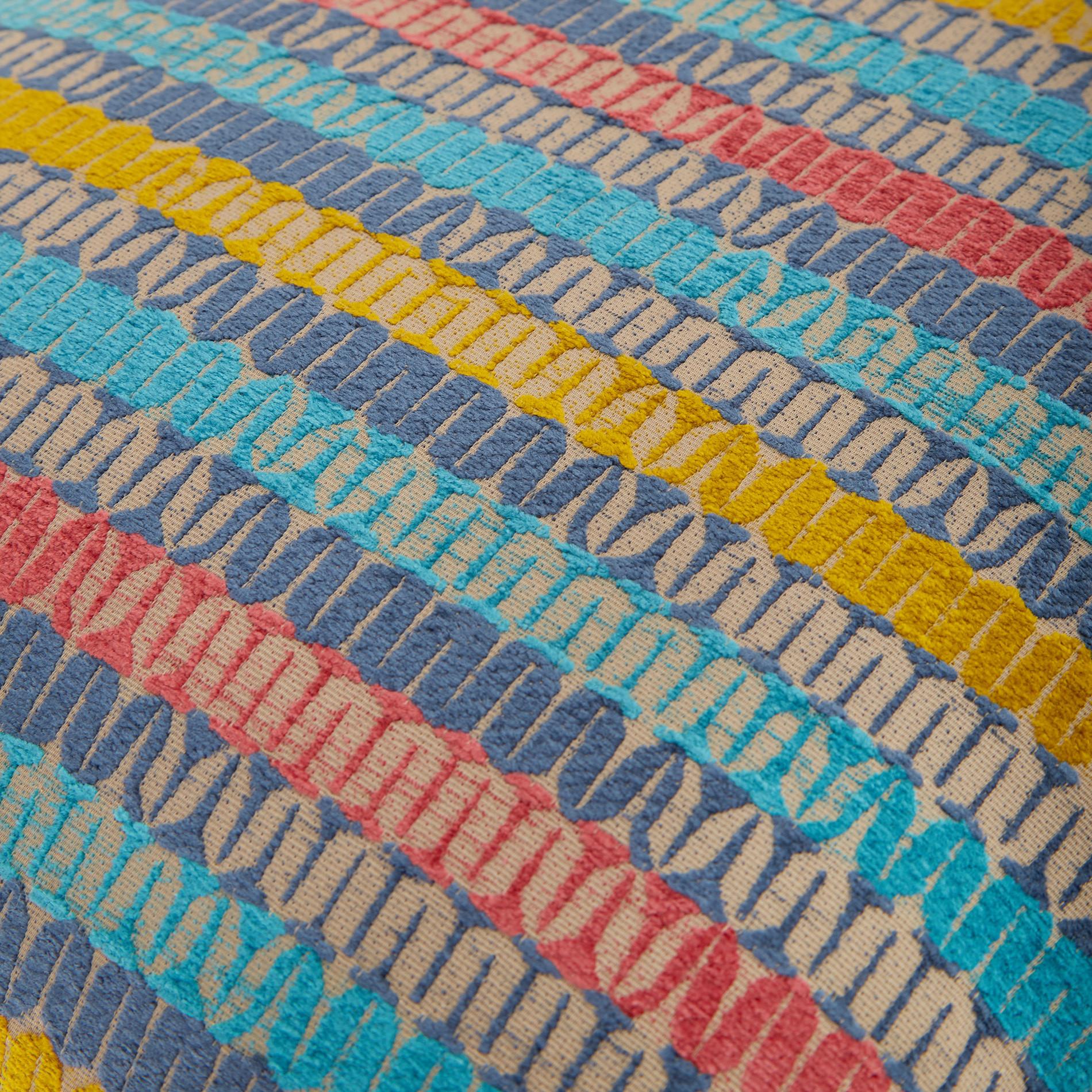 Cuscino jacquard motivo geometrico 43x43cm, Multicolor, large image number 3