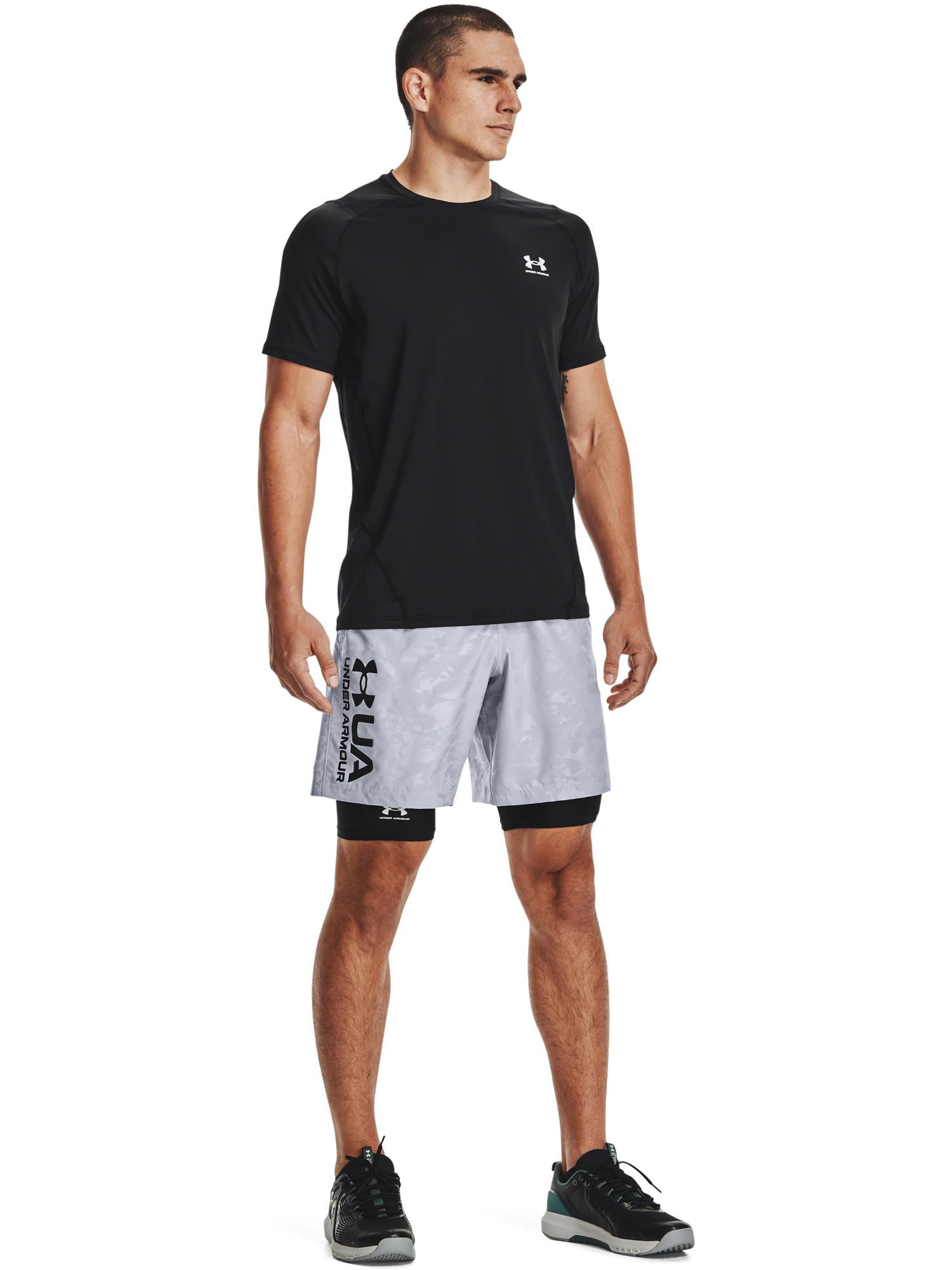 Shorts UA Woven Emboss da uomo, Grigio, large image number 4