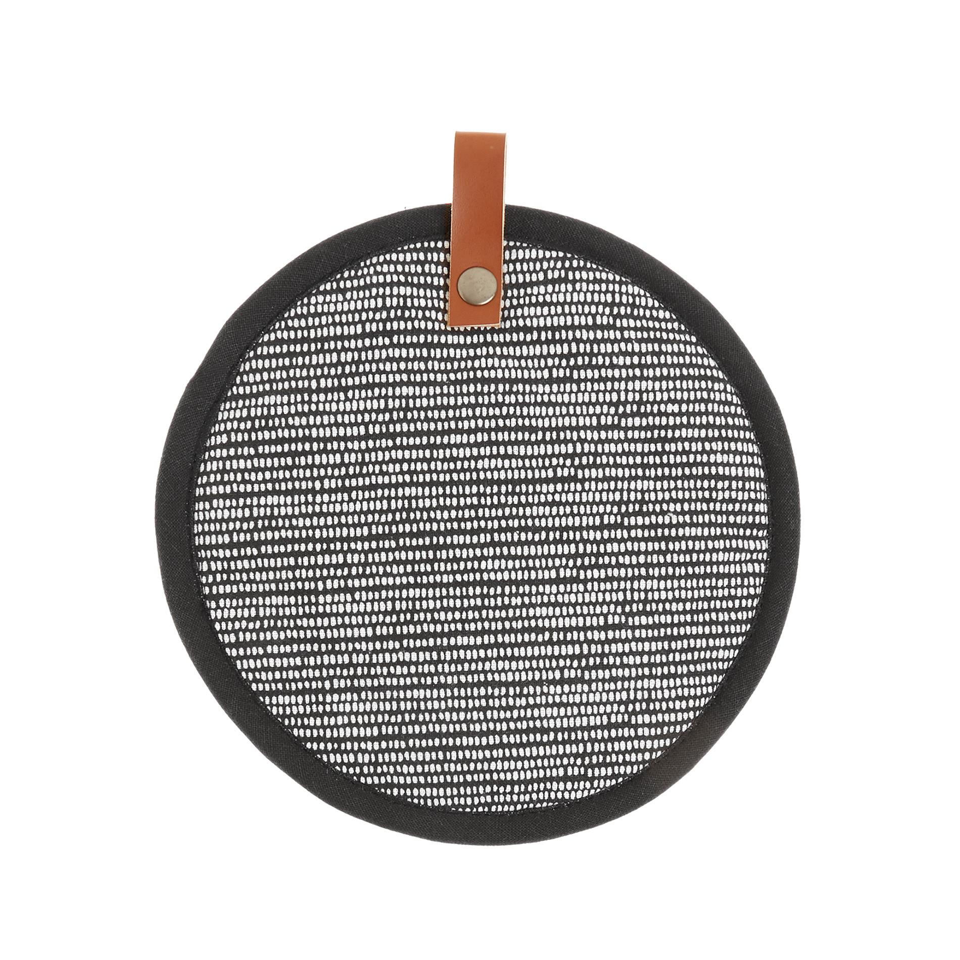 Presina puro cotone stampa dots, Nero, large image number 0