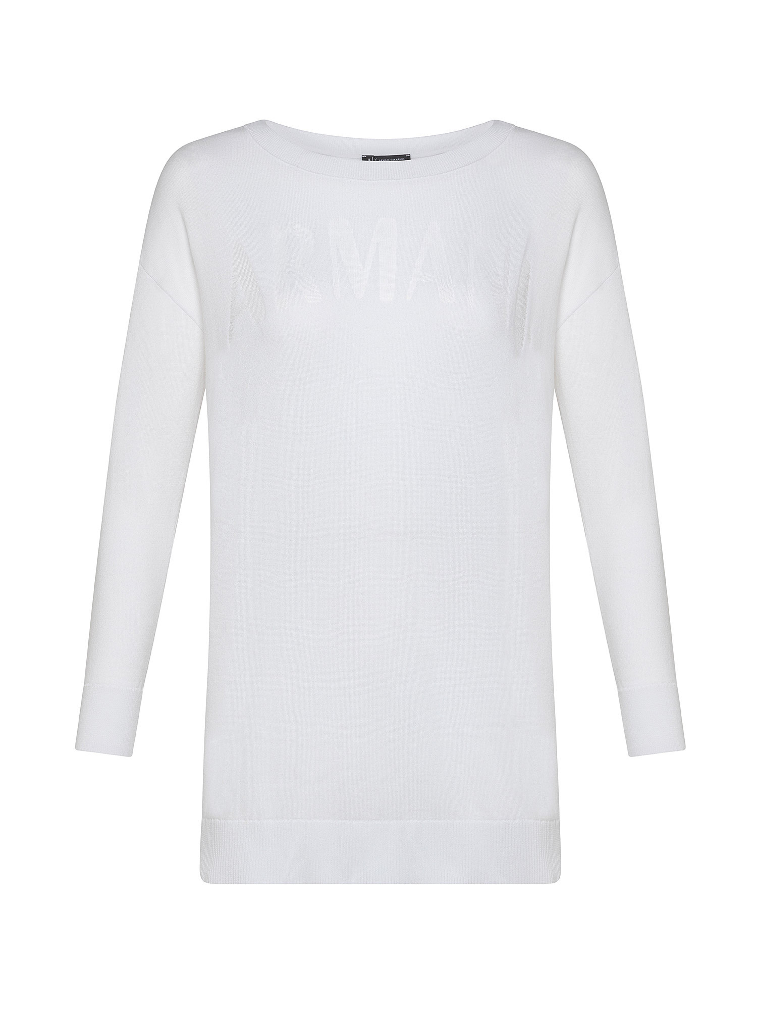 Maglione con logo, Bianco, large image number 0