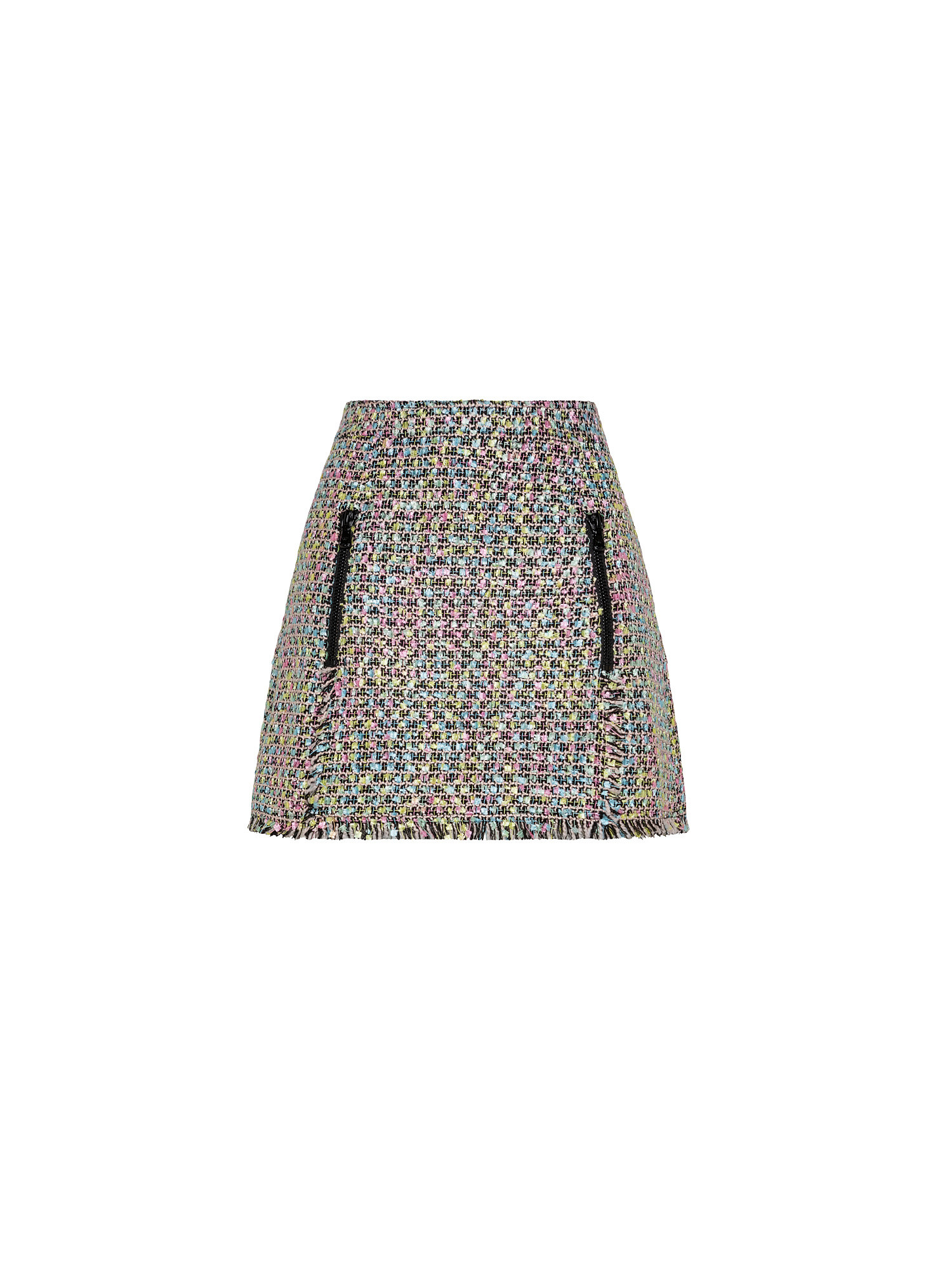 Gonna svasata in tweed multicolor, Multicolor, large image number 0