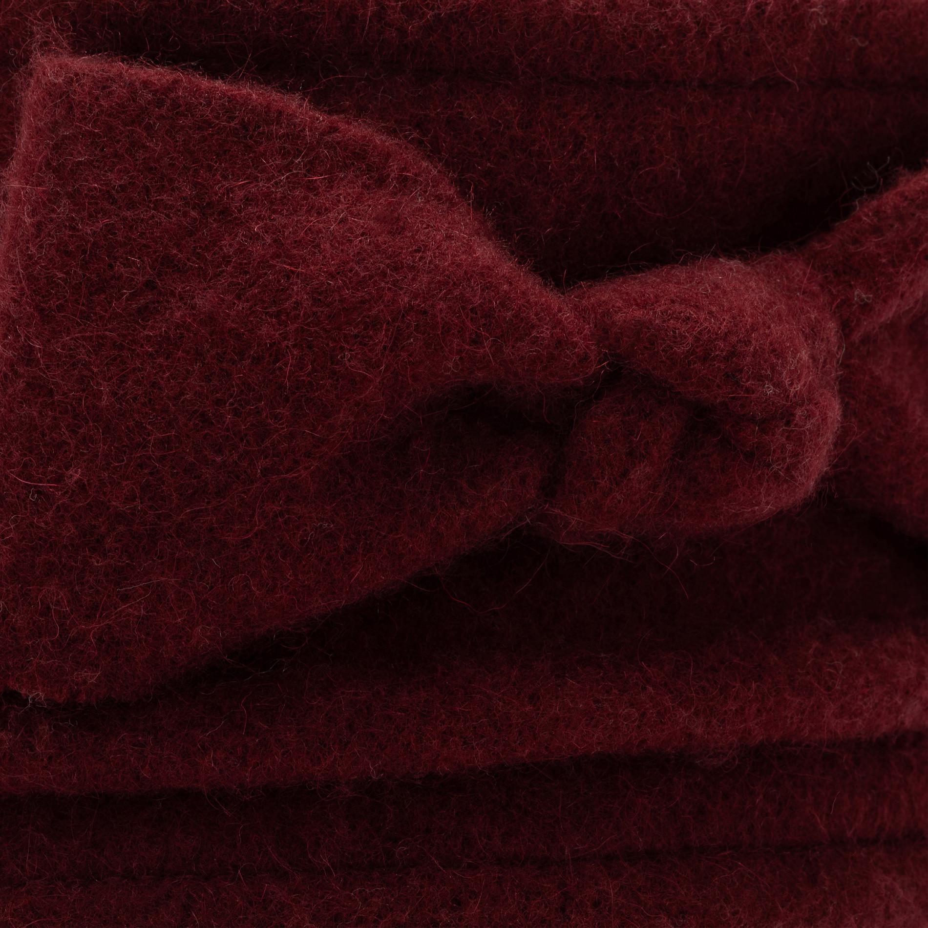 Berretto pura lana con fiocco Koan, Rosso scuro, large image number 1