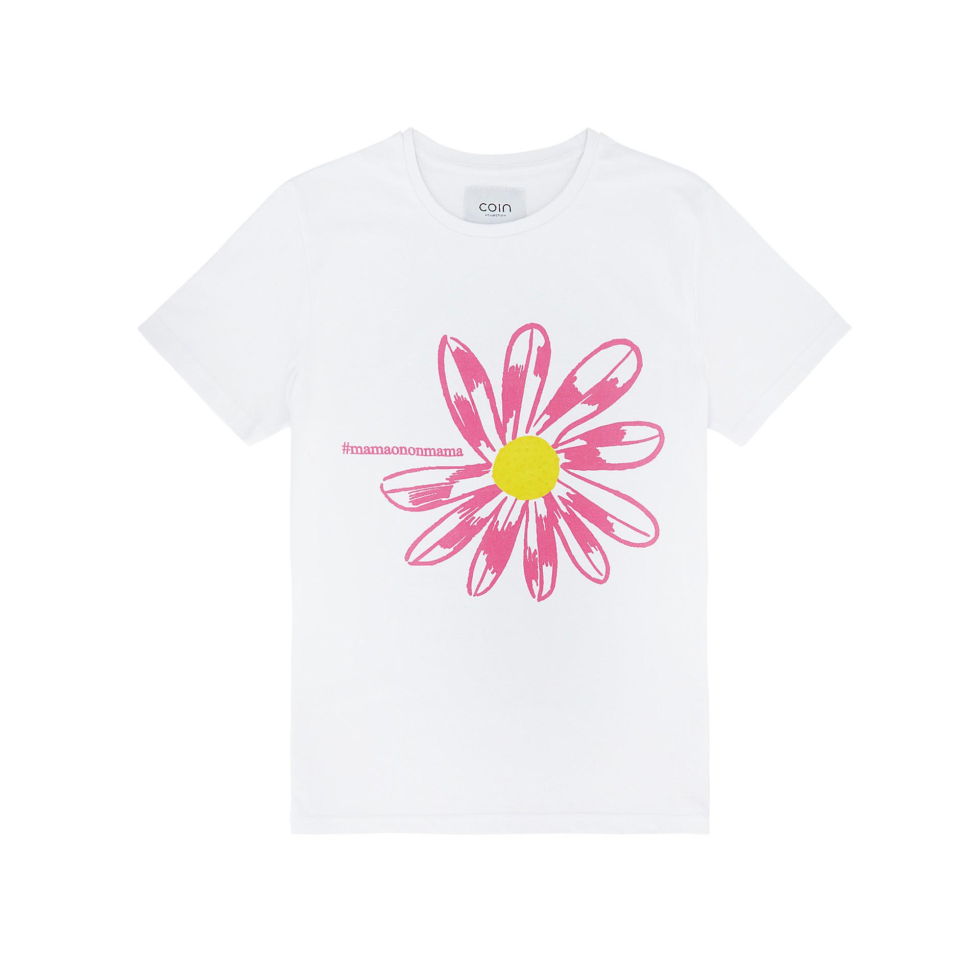 T-shirt puro cotone #mamaononmama, Bianco, large image number 0