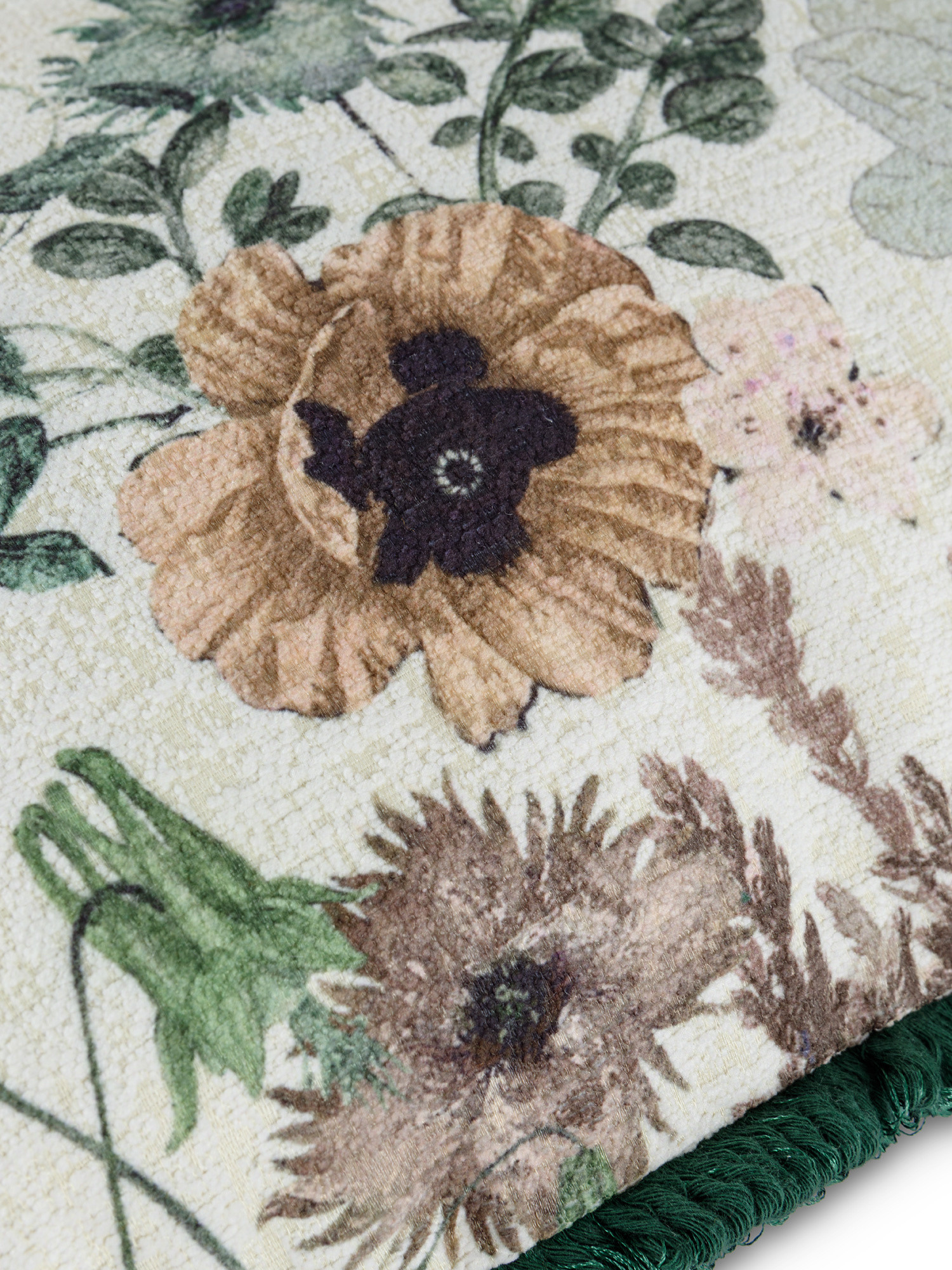 Cuscino velluto stampa floreale 35x55cm, Multicolor, large image number 2
