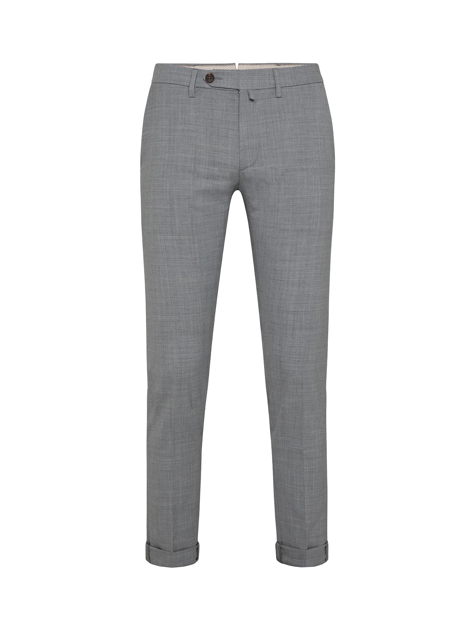 Pantalone chino misto lana, Grigio, large image number 0