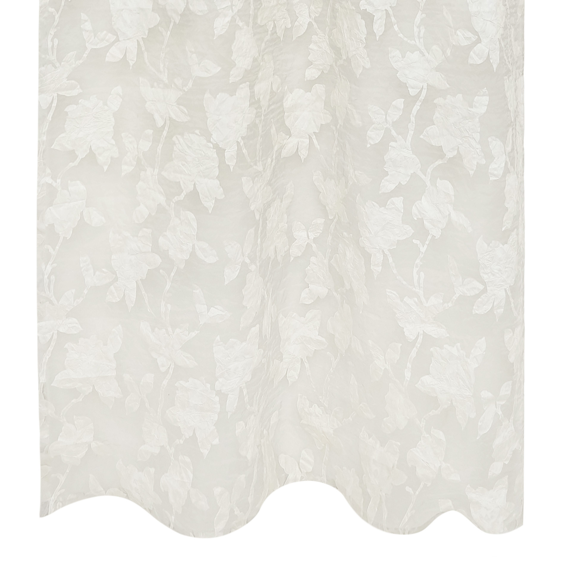 Tenda stampa rose devore, Bianco, large image number 1