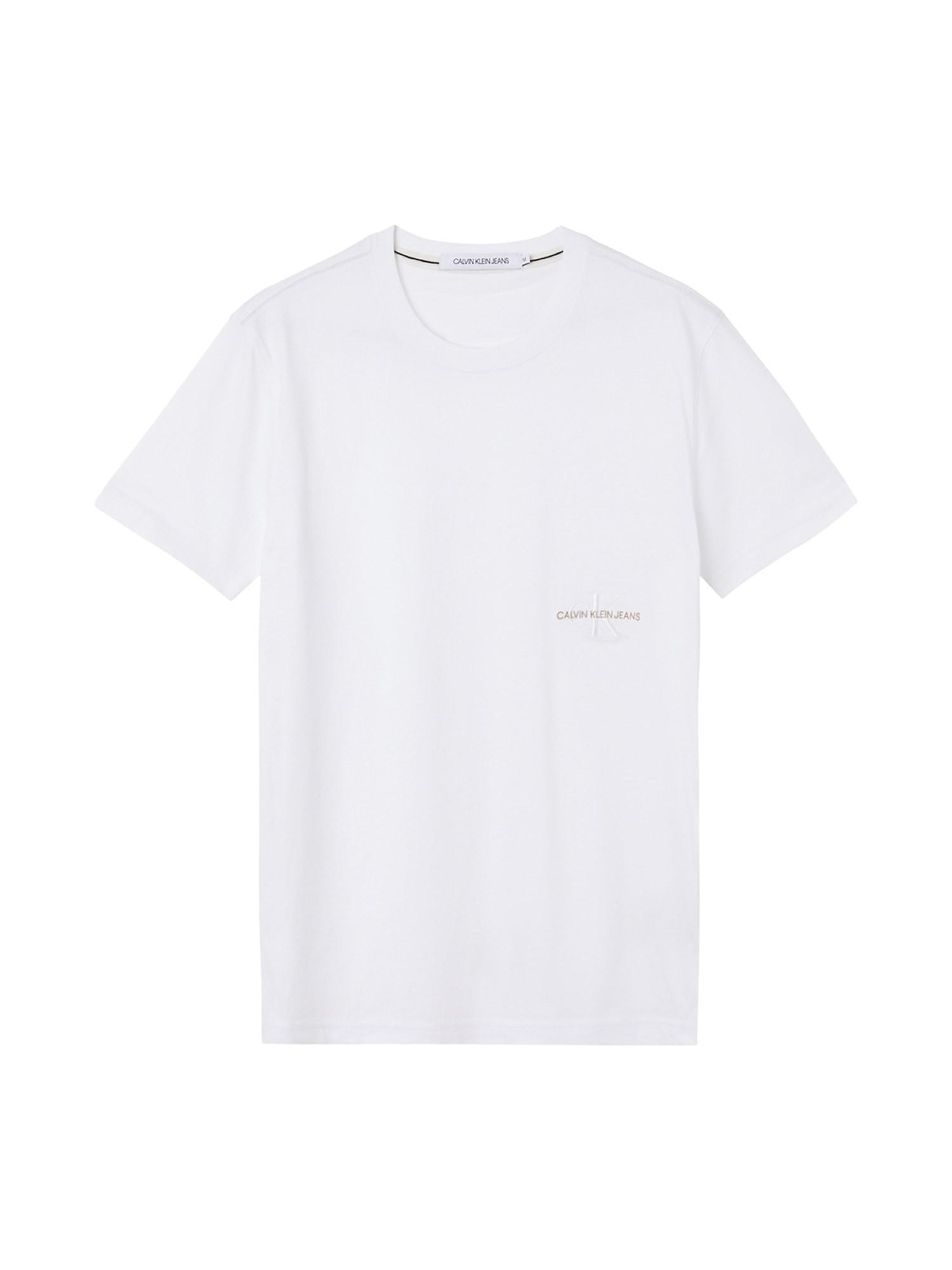 T-shirt slim in cotone biologico, Bianco, large image number 0