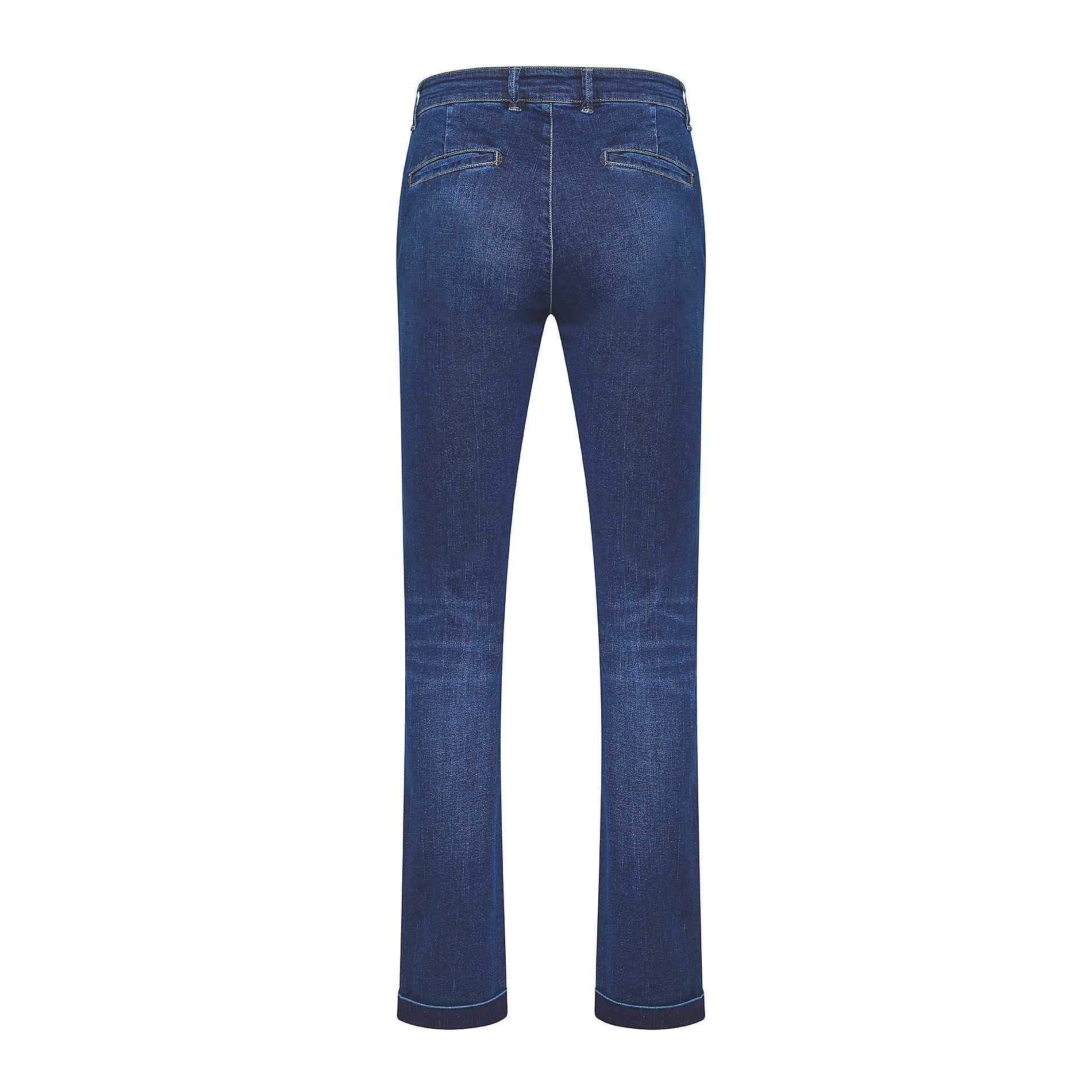 Pantalone chino denim stretch JCT, Blu scuro, large image number 1