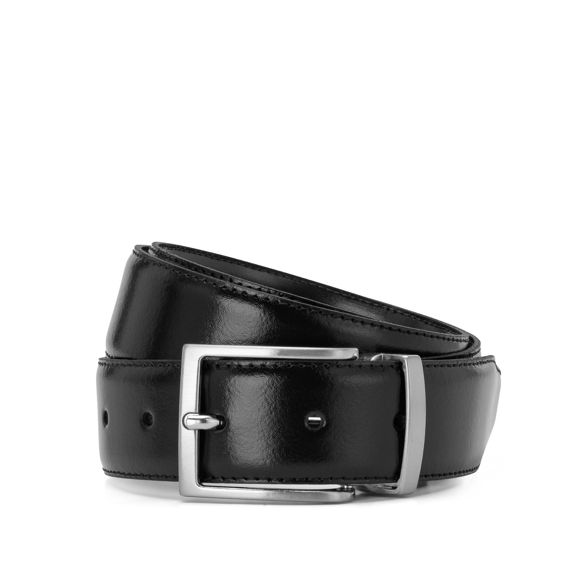 Cintura in vera pelle, Nero, large image number 0