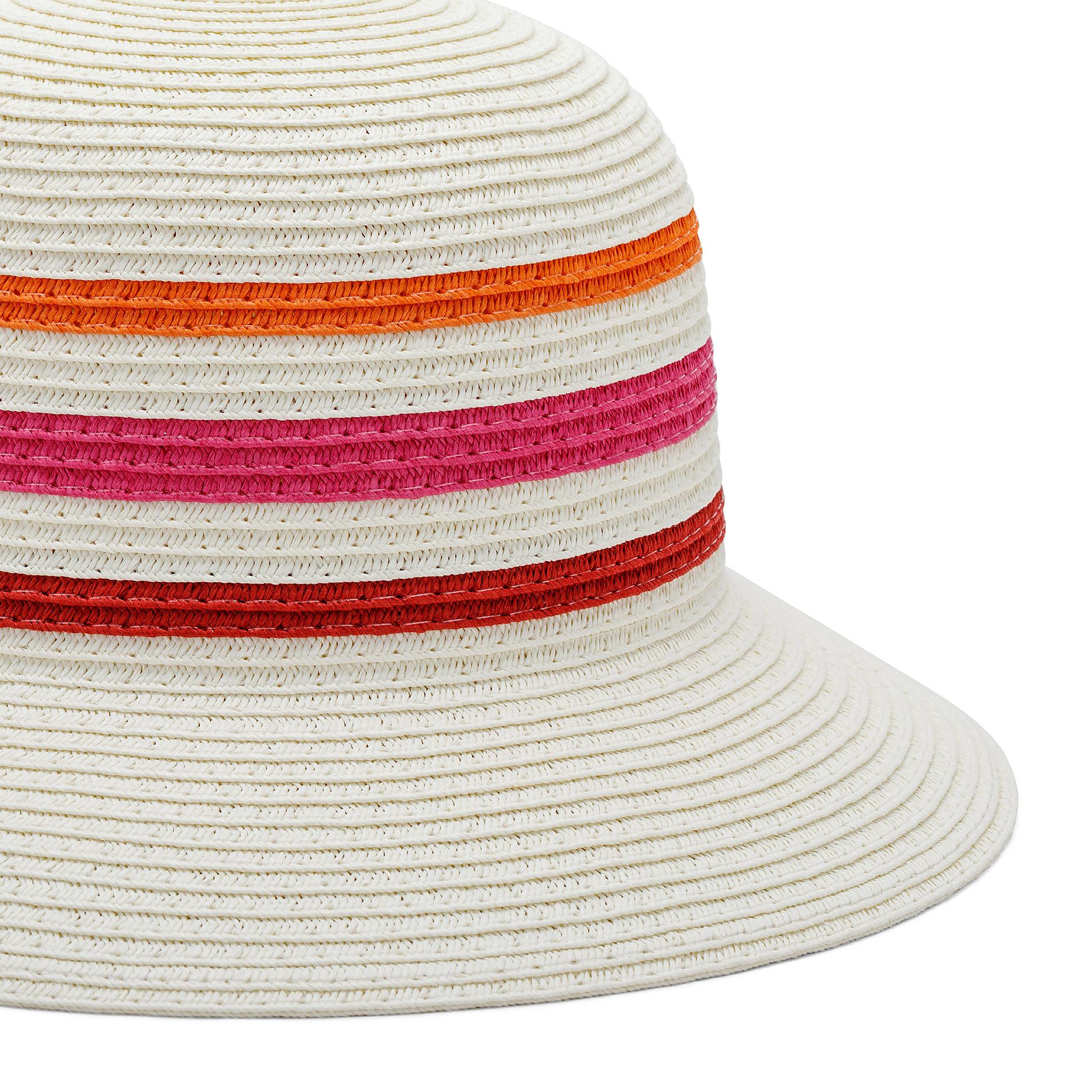Cappello di paglia a tre righe Koan, Rosa, large image number 1