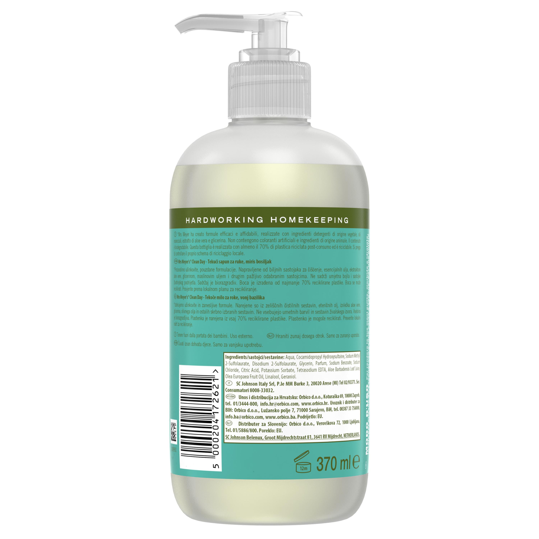 Sapone liquido per mani profumo di basilico 370ml, Verde smeraldo, large image number 1