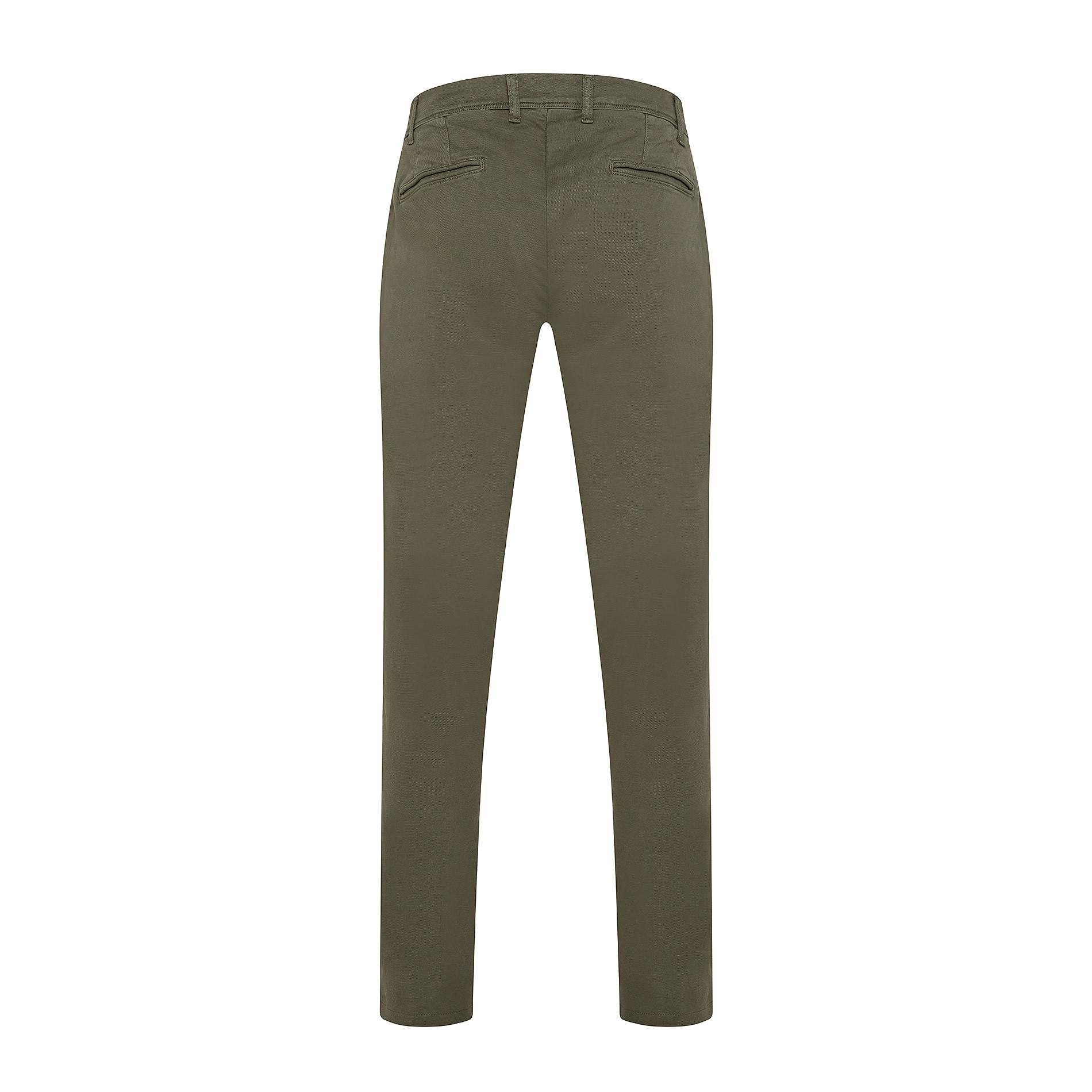 Pantalone chino gabardina stretch JCT, Verde scuro, large image number 1