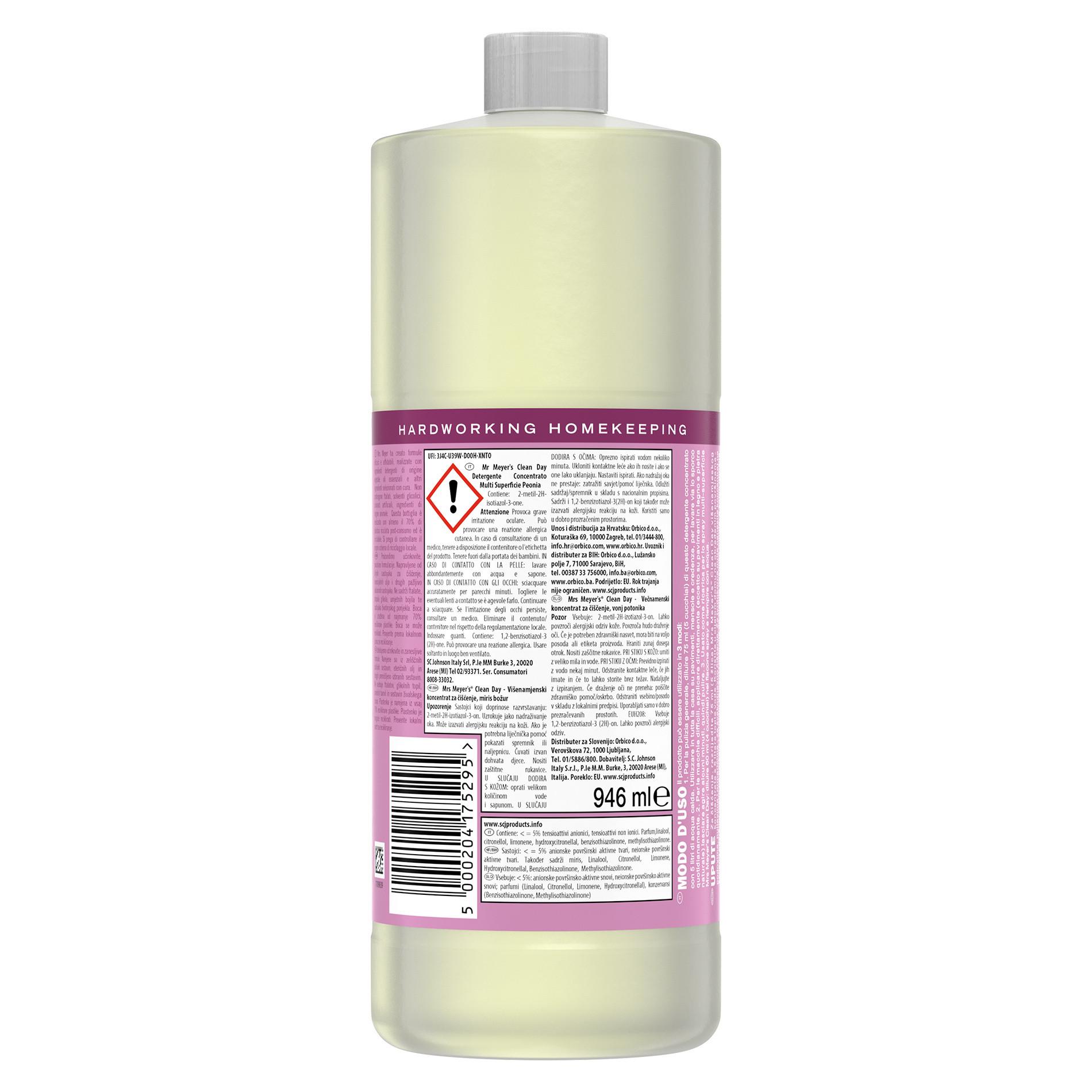 Detergente concentrato multi-supericie profumo di peonia 946ml, Rosa, large image number 1