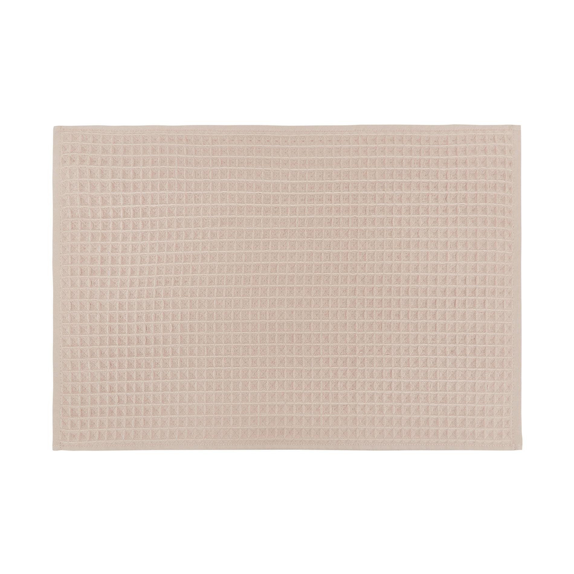 Set asciugamani cotone nido d'ape tinta unita, Beige, large image number 2