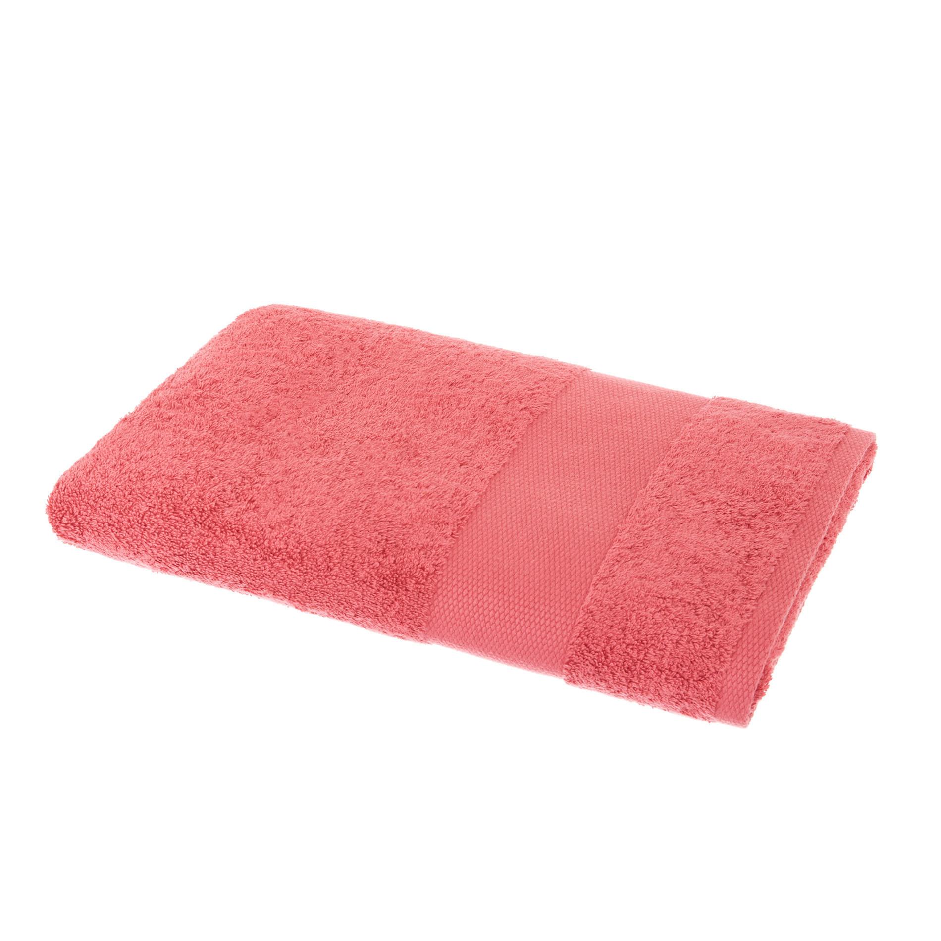 Asciugamano spugna di puro cotone Zefiro, Rosso fragola, large image number 1