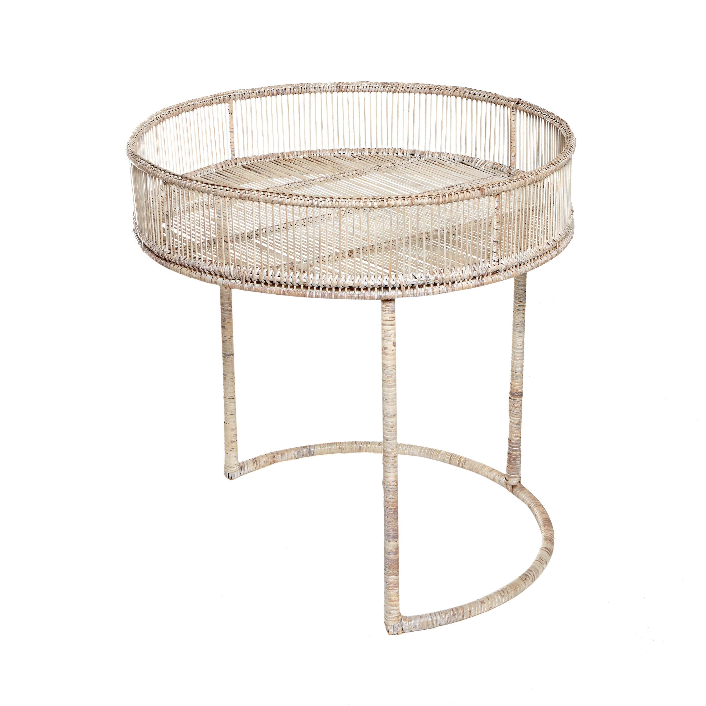 Set 2 tavolini rattan intrecciato a mano Ngwe, Naturale, large image number 2