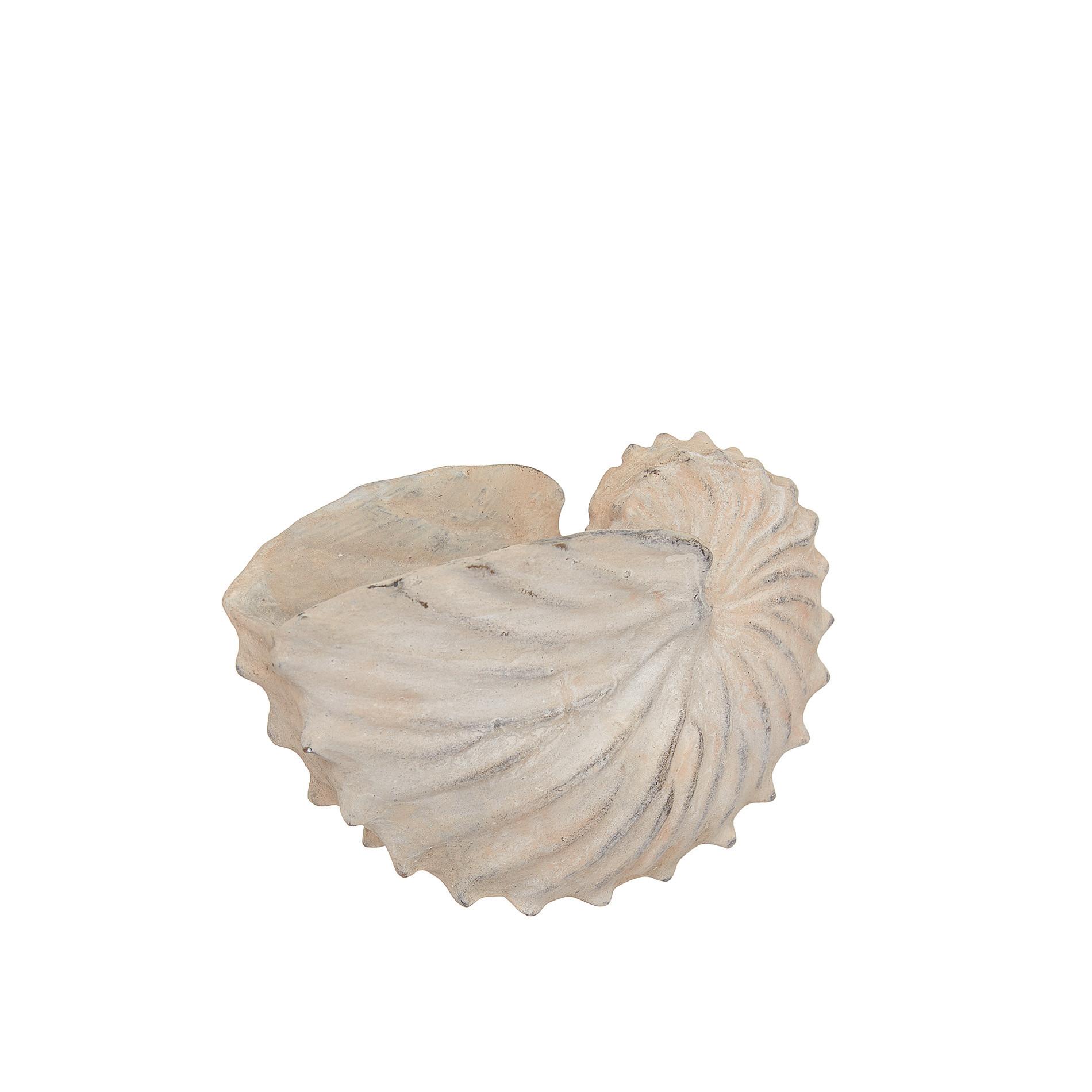 Conchiglia decorativa rifinita a mano, Bianco, large image number 0