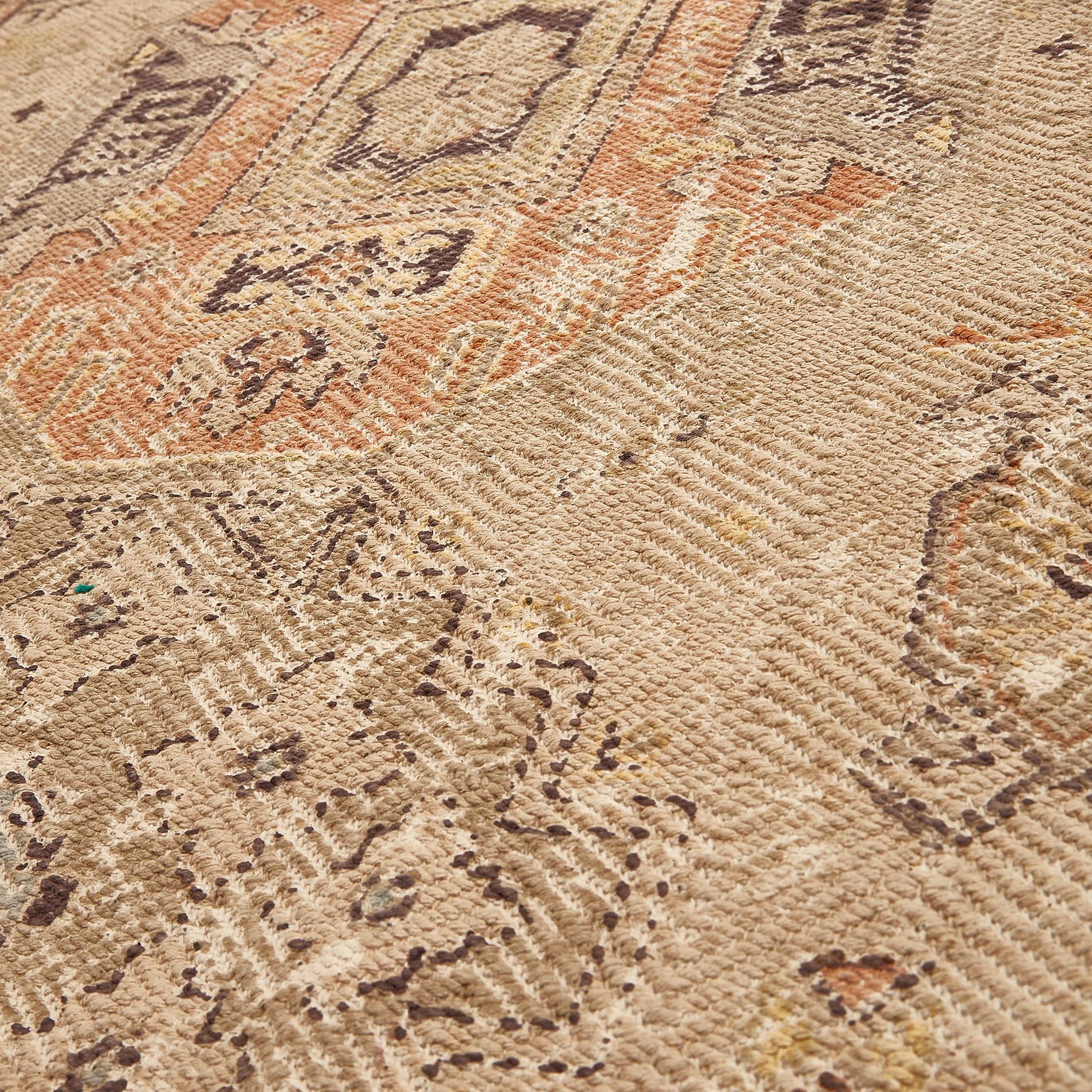 Tappeto cotone motivo etnico, Beige, large image number 1