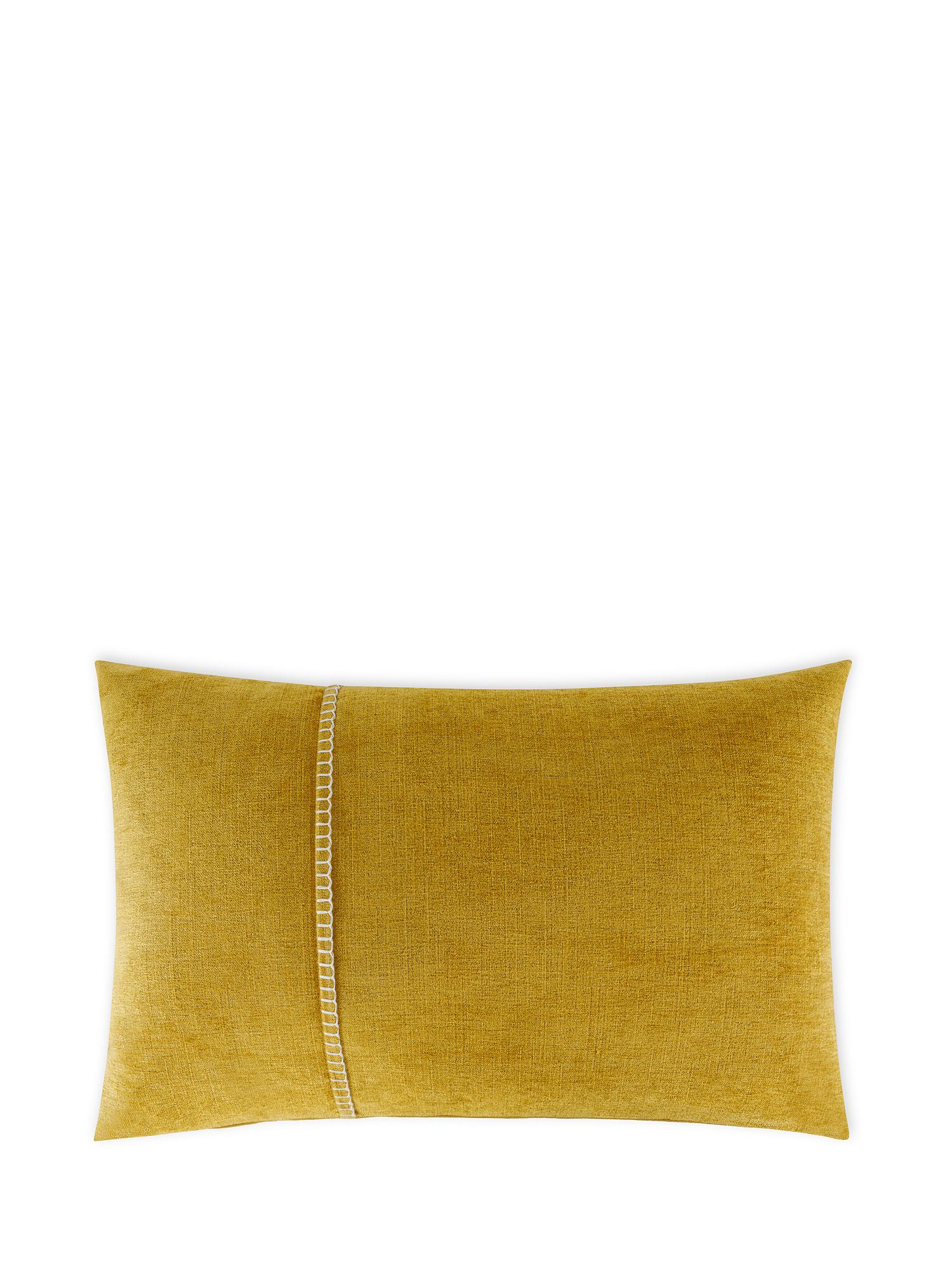 Cuscino velluto con ricamo 35x55cm, Multicolor, large image number 0
