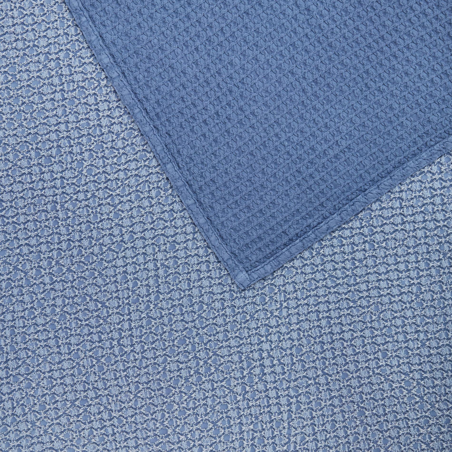 Copriletto puro cotone fadeout, Blu, large image number 1