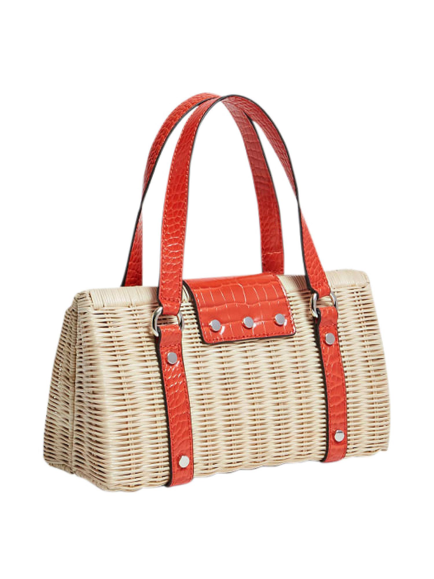 Paloma Satchel Bag, Arancione, large image number 1