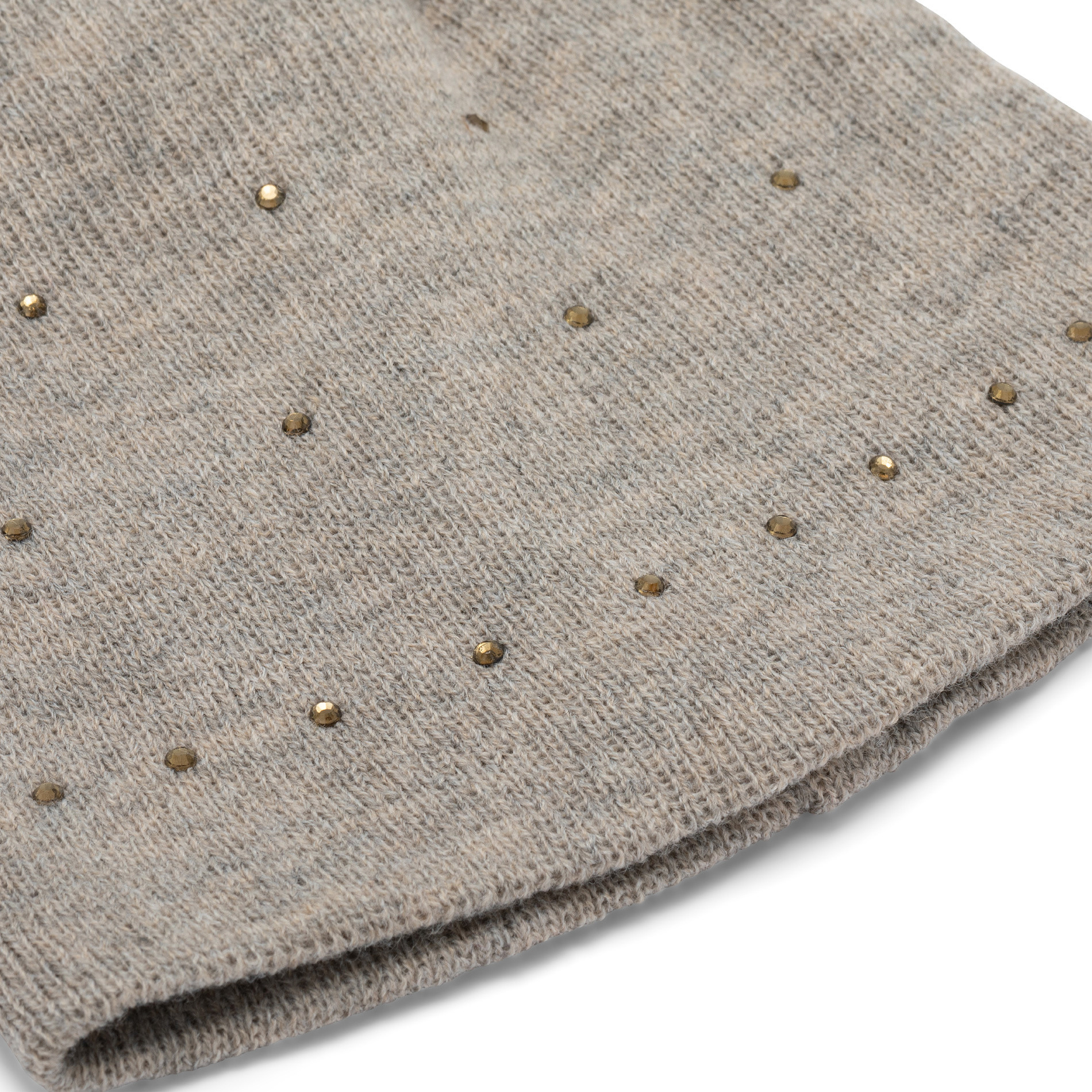 Berretto con strass Koan, Beige, large image number 1