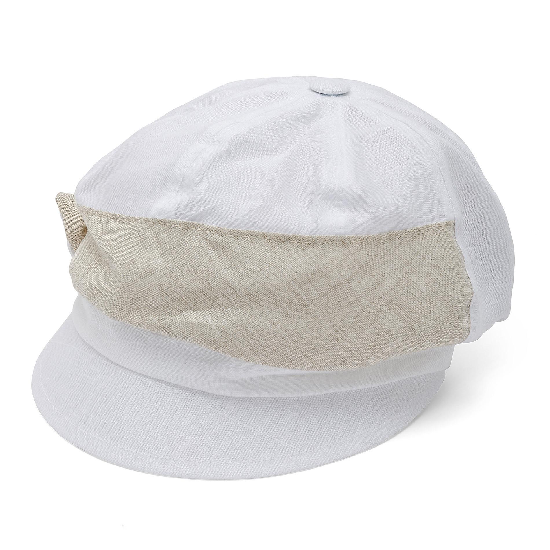 Cappello di lino con banda Koan, Bianco, large image number 0