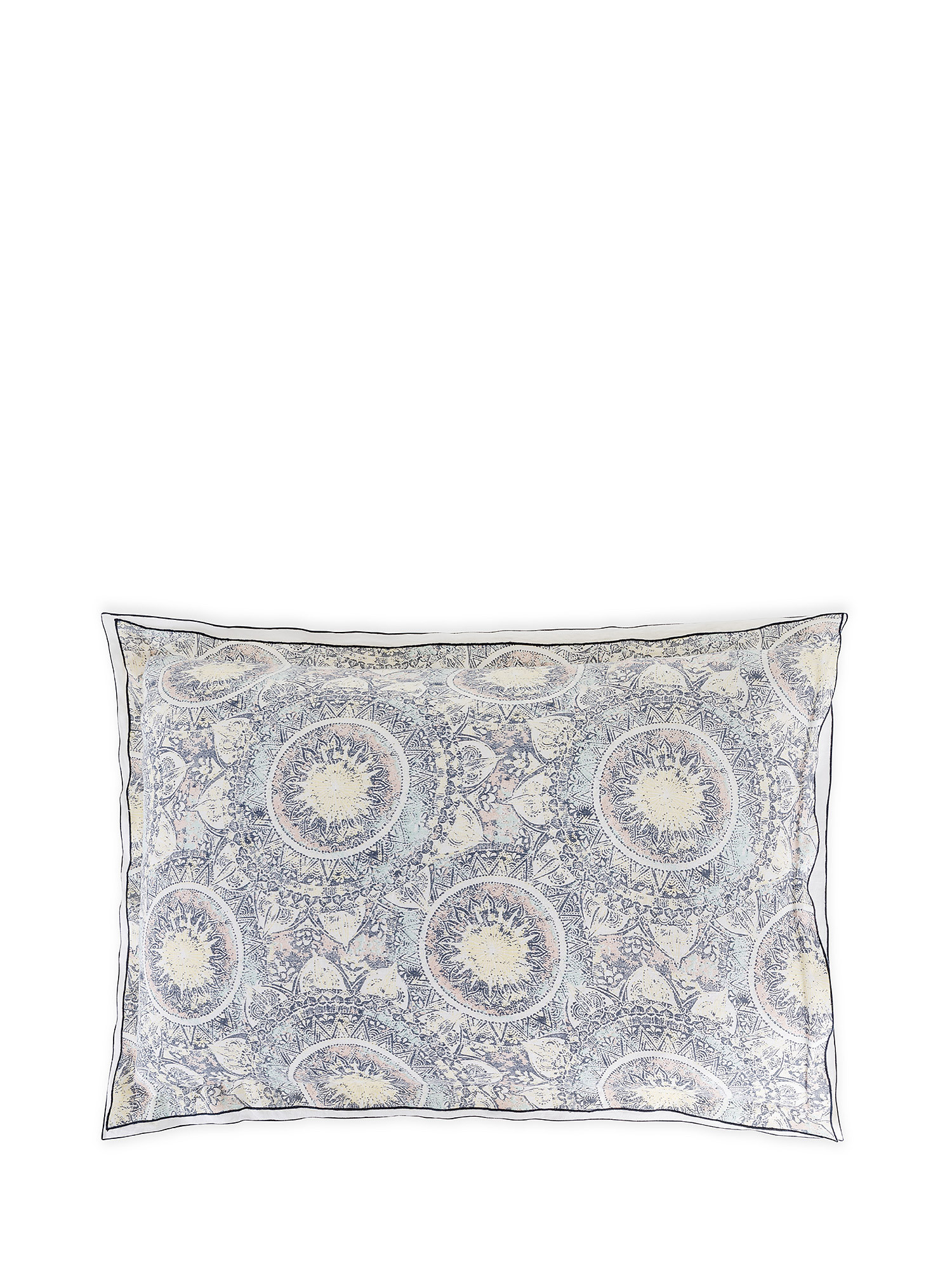 Federa puro lino lavato fantasia tarocchi, Bianco, large image number 0