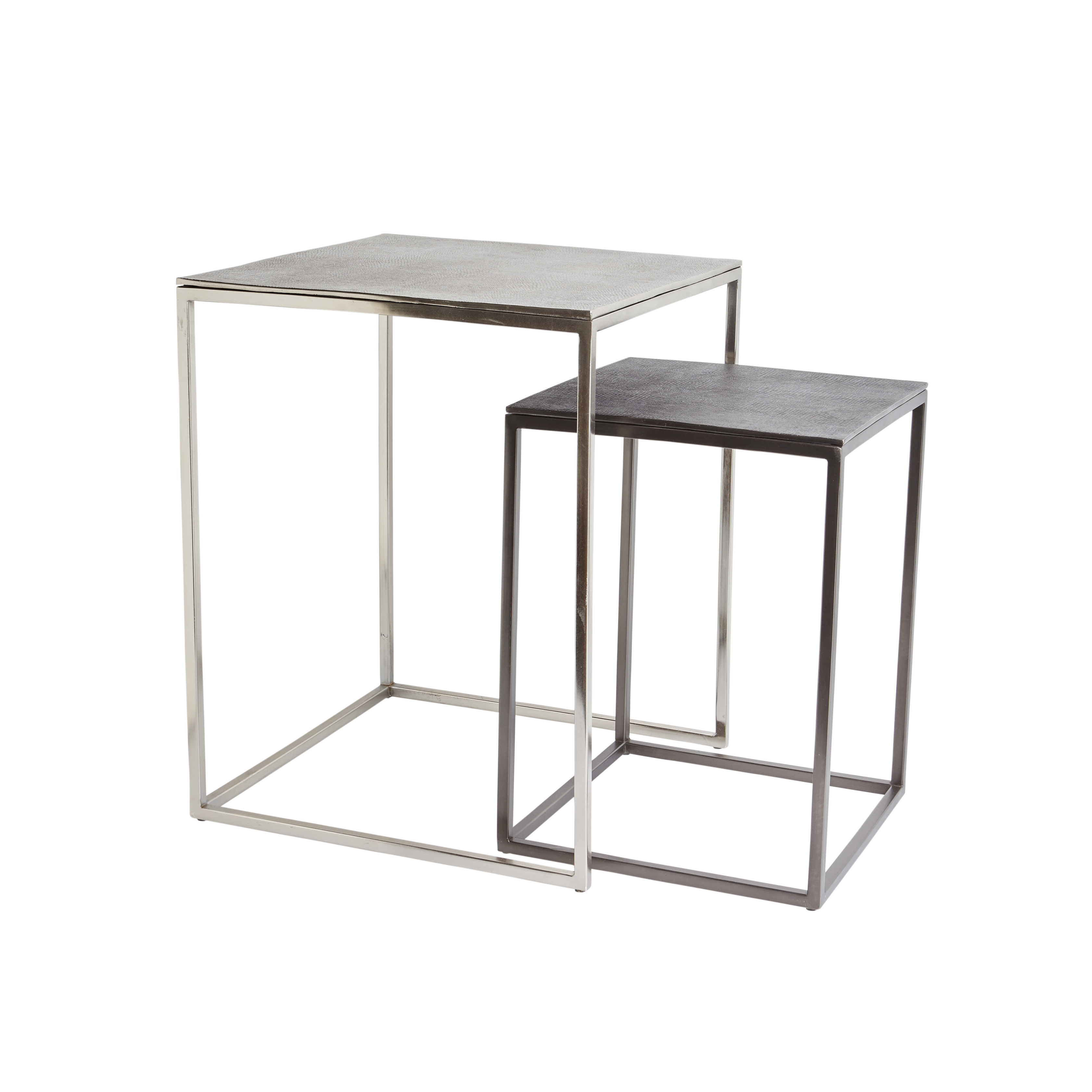 Coffee table in metallo cromato Snake, Grigio scuro, large image number 2